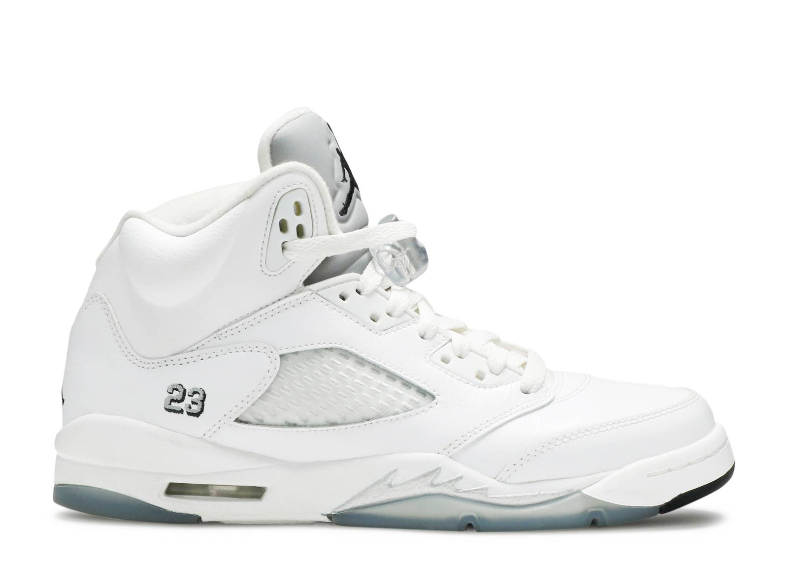 Air Jordan 5 Retro Bg (gs) - Air Jordan - 440888 130 - white black-metallic  silver  18fc6169a