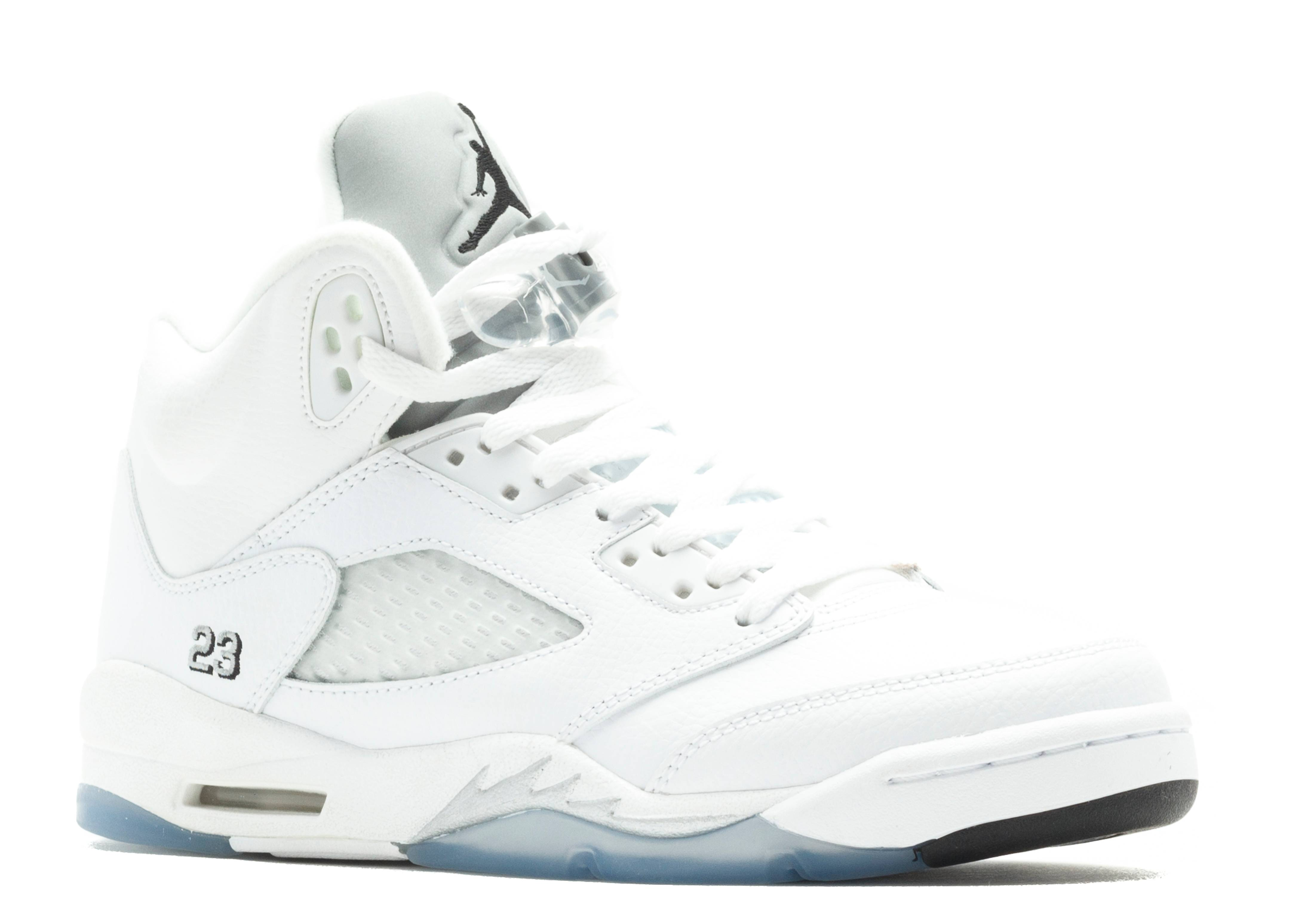 air jordan retro 5 silver black