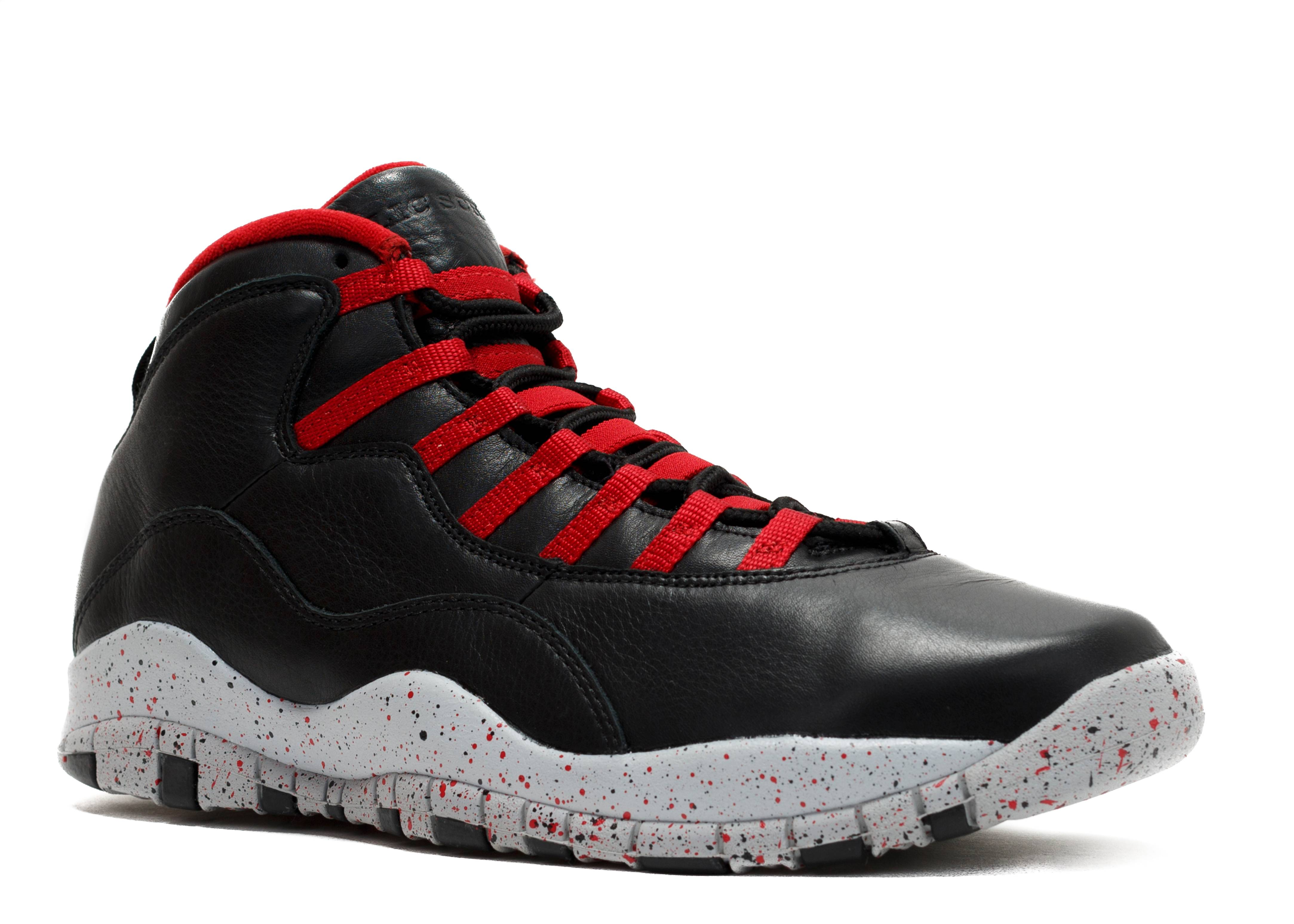 air jordan 10 red and black