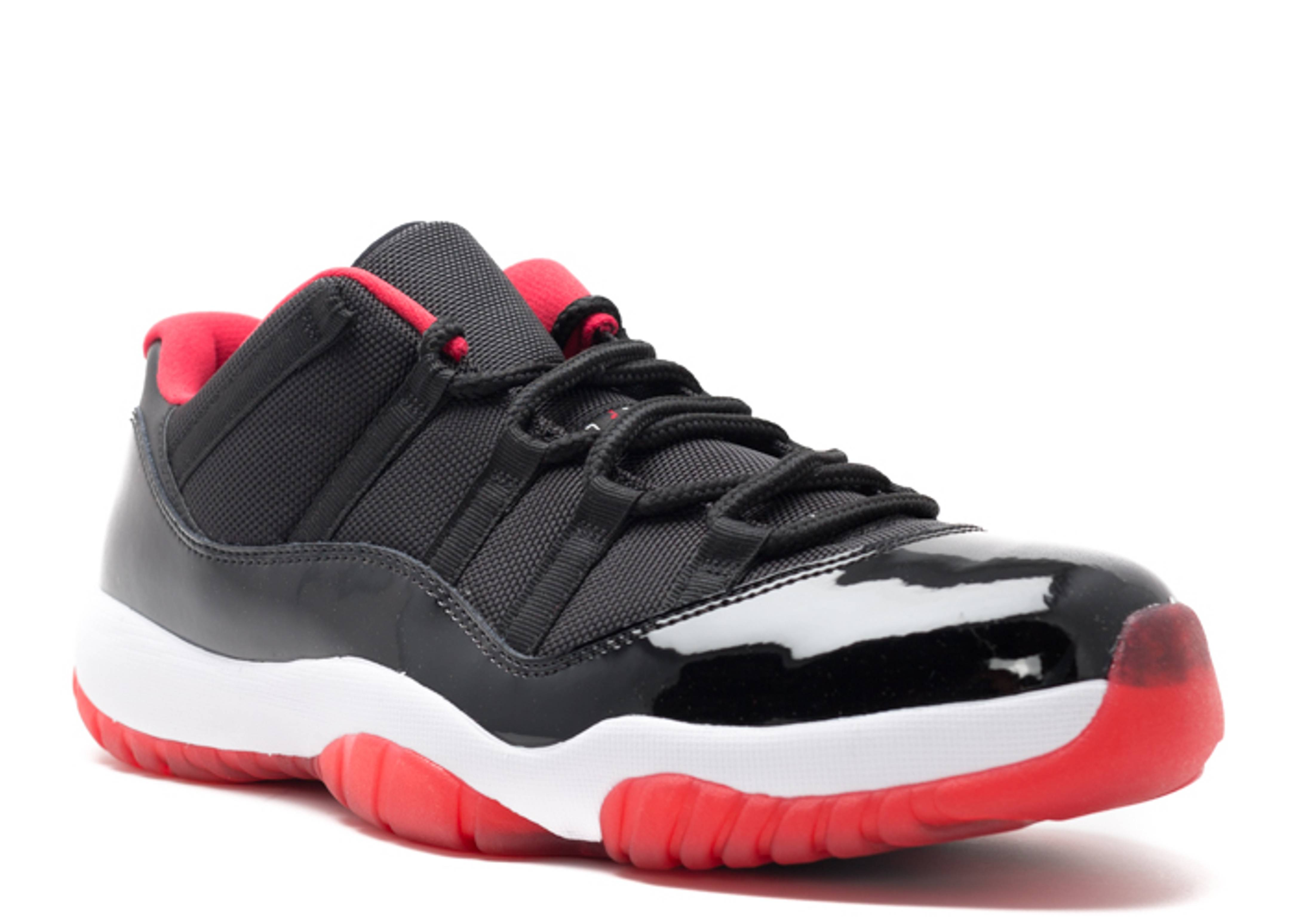 "nike shox le vert des hommes - air jordan 11 retro low ""bred"" - black/true red-white - Air Jordan ..."