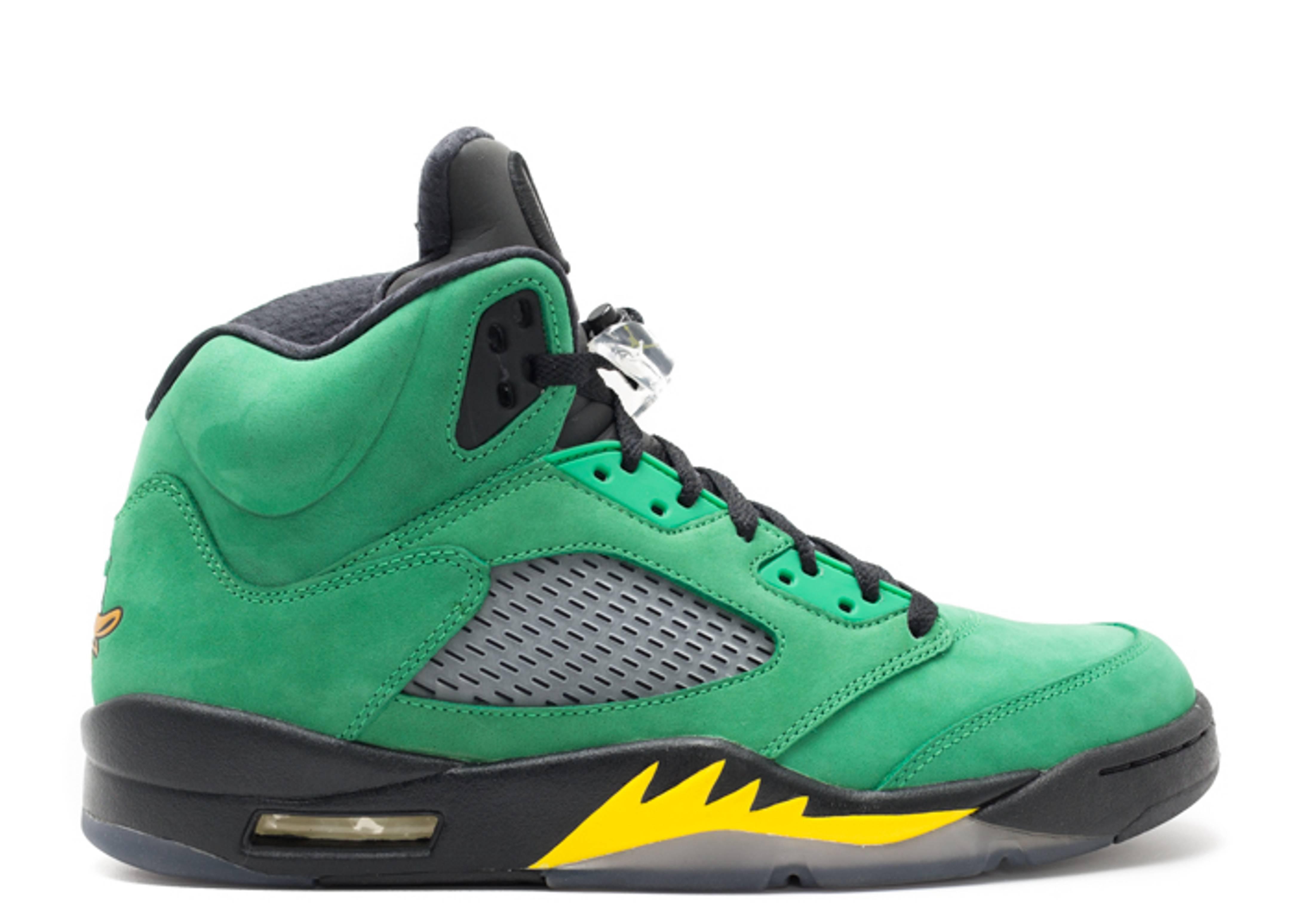 online store 5e3b9 7fc27 ... ireland air jordan 5 retro oregon ducks air jordan h013mnjdls535 apple  green yellow strike blk flight