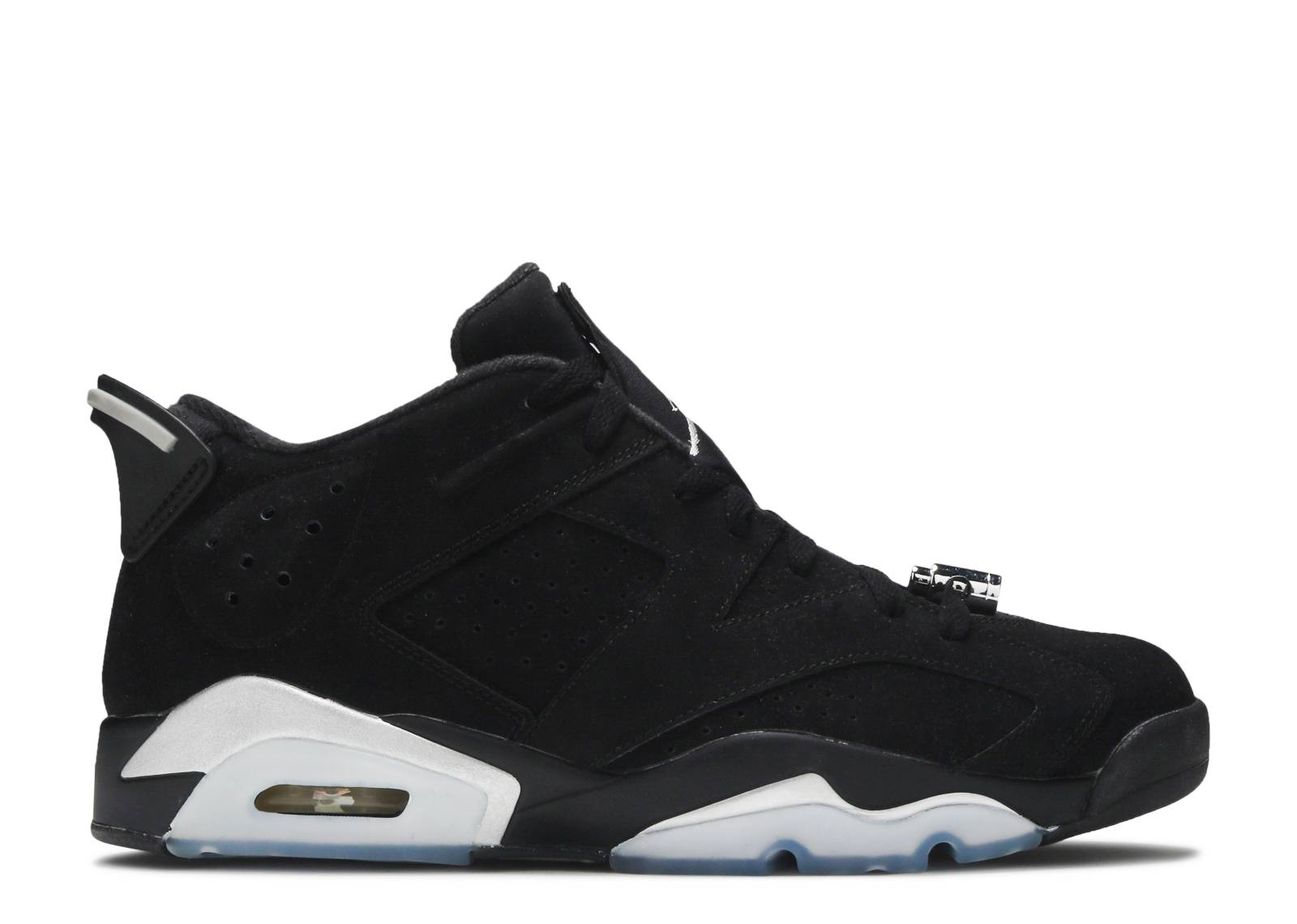 air jordan 6 retro low black\/metallic silver