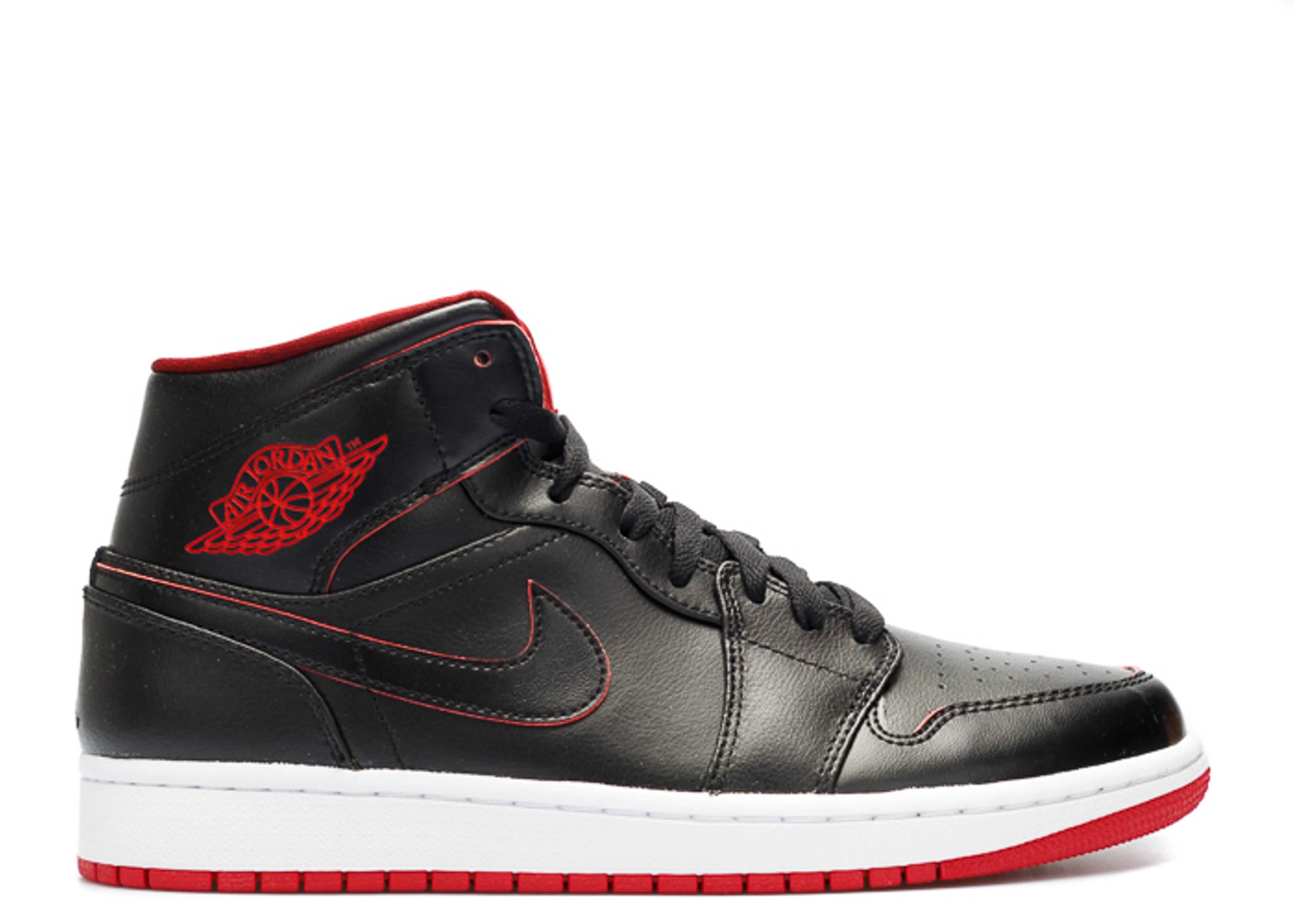 jordan 1 red and black