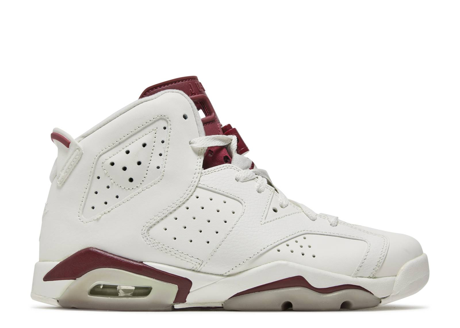 "air jordan 6 retro og bg (gs) ""maroon"""
