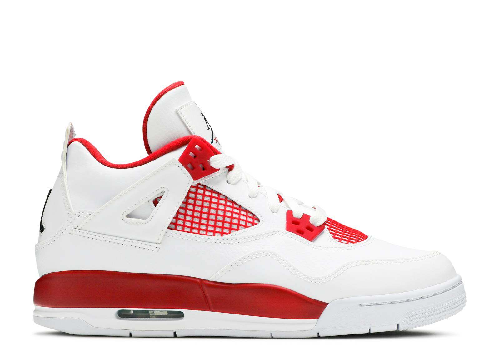 Air Jordan 4 Retro Blanc Bg  / Noir  / Gym Robin Rouge