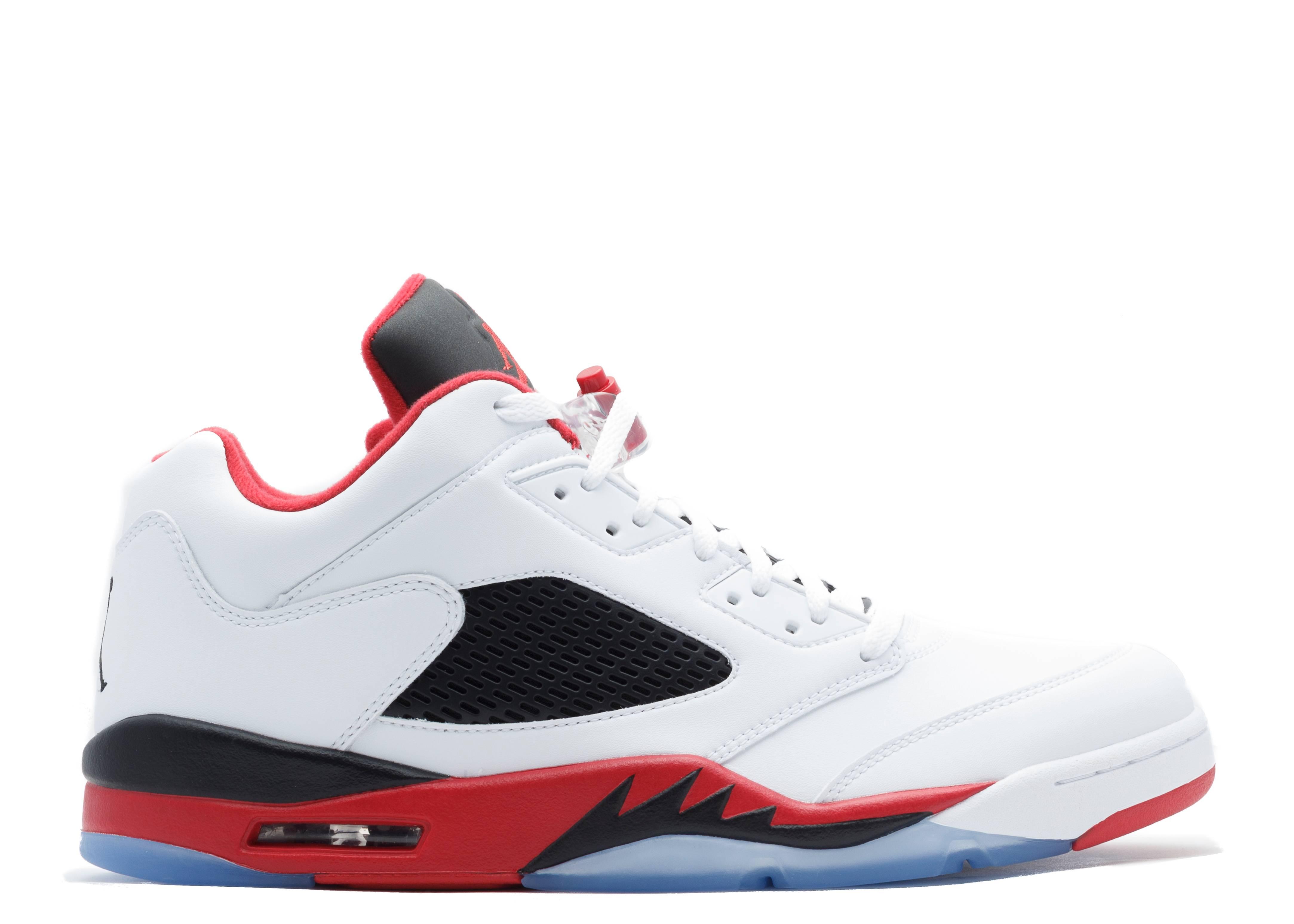 6b58af025cc7d9 Air Jordan 5 Retro Low - Air Jordan - 819171 101 - white fire red-black