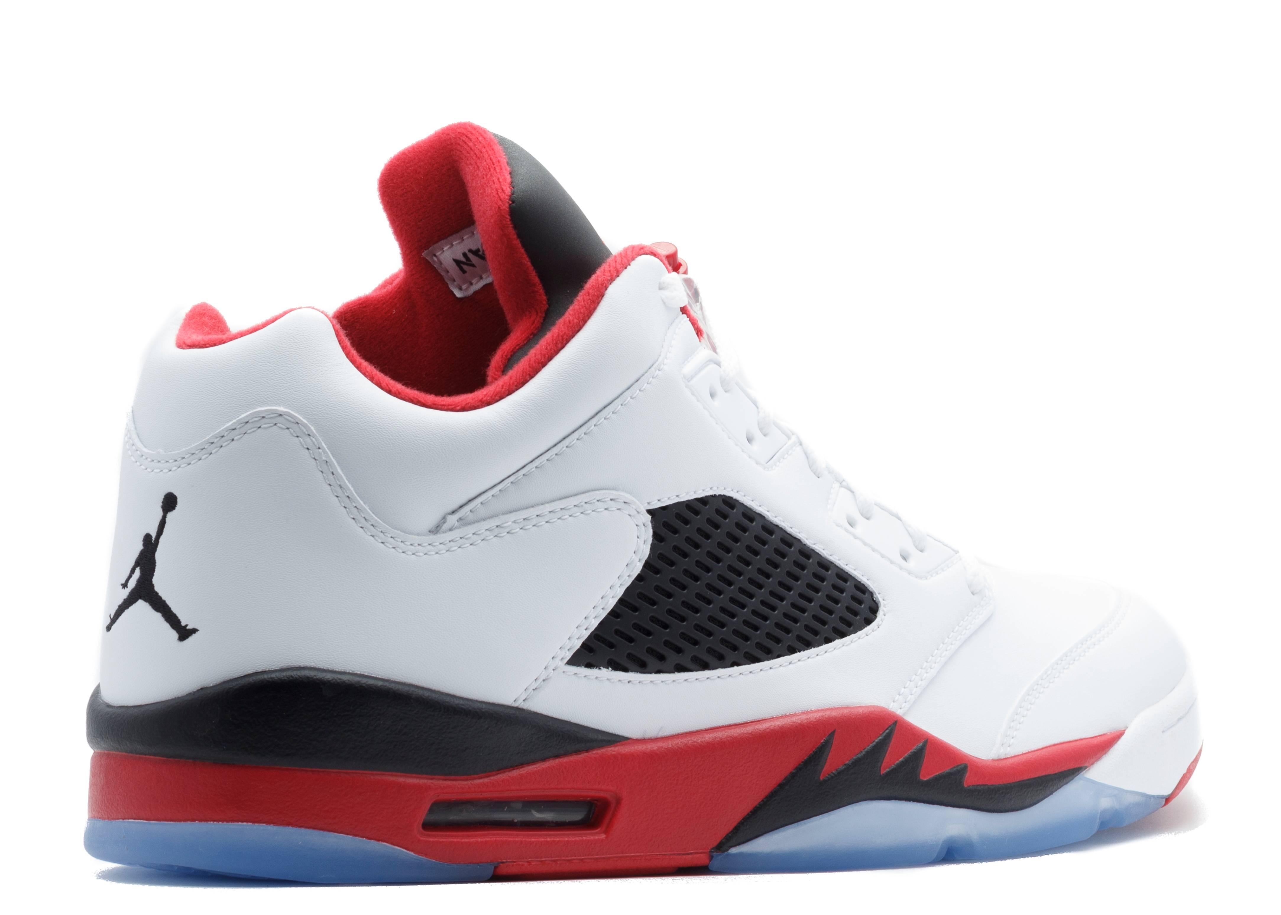 cheap for discount 92b09 5486d Air Jordan 5 Retro Low - Air Jordan - 819171 101 - white fire red-black    Flight Club