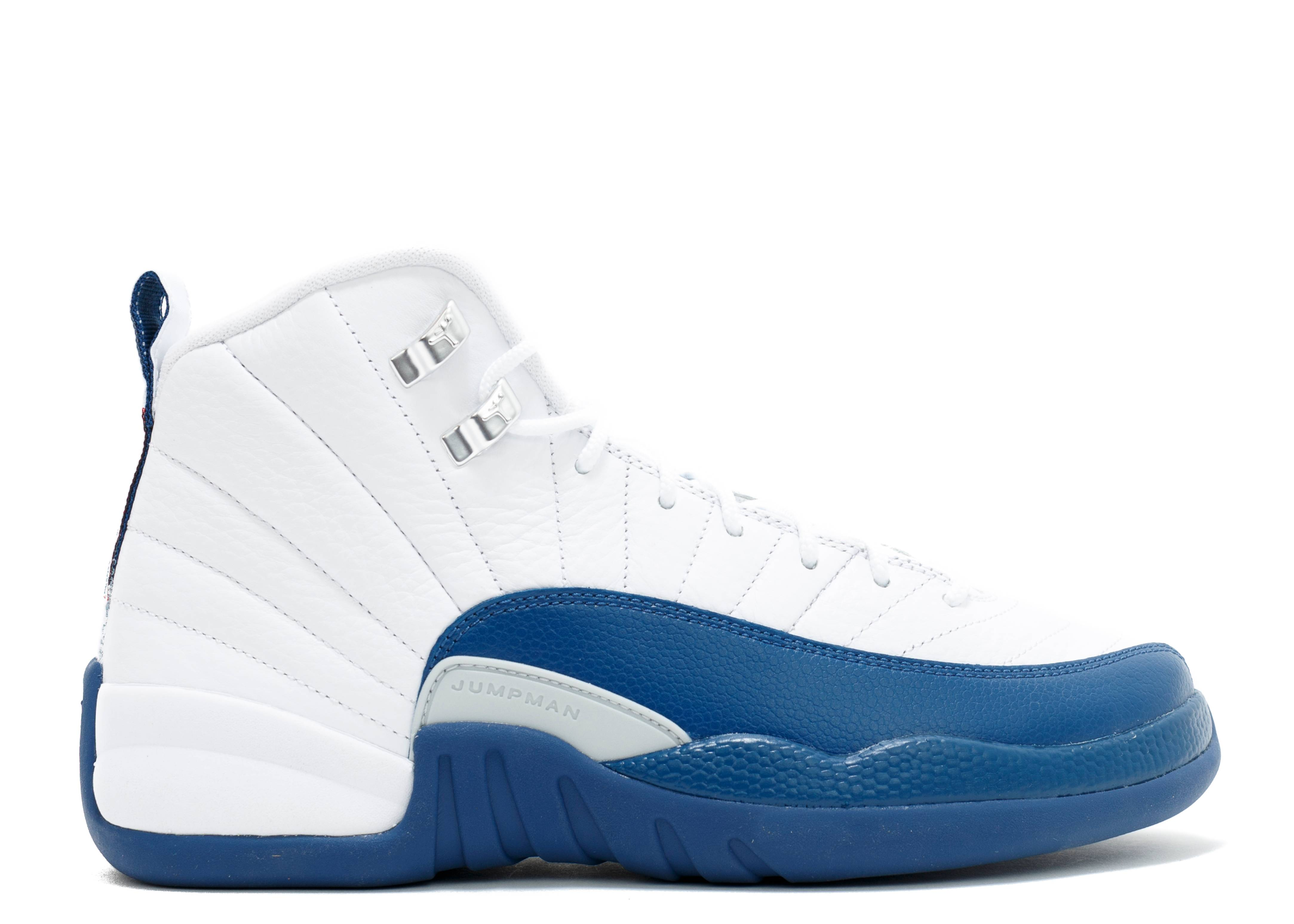 "air jordan 12 retro bg (gs) ""french blue"""