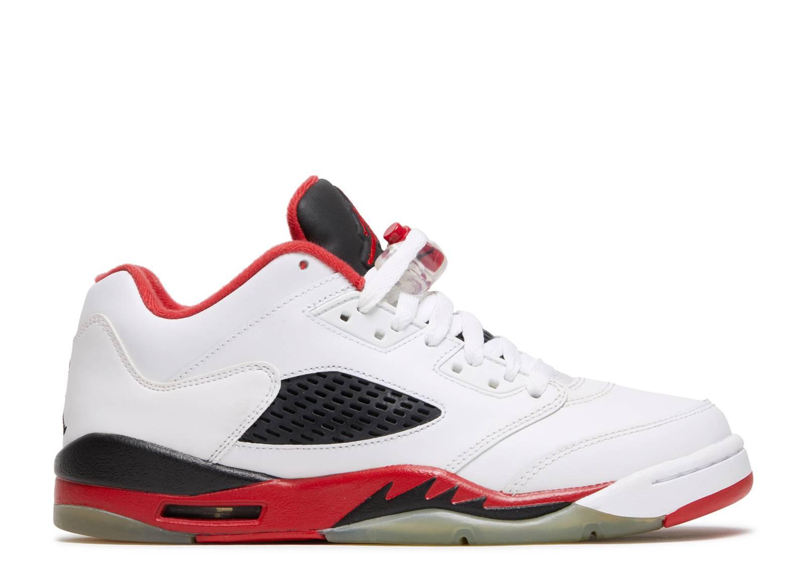 "air jordan 5 retro low (gs) ""fire red"""