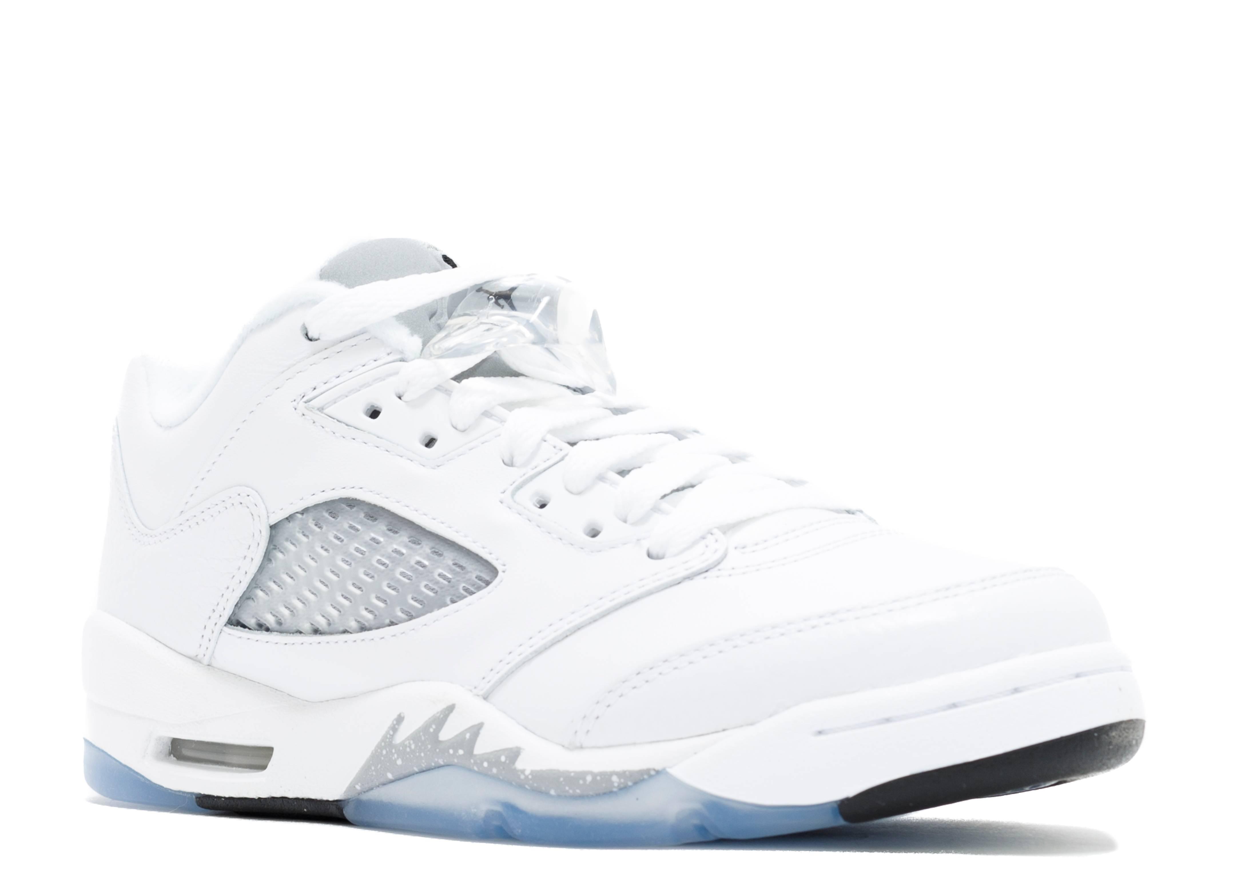 all white air jordan 5