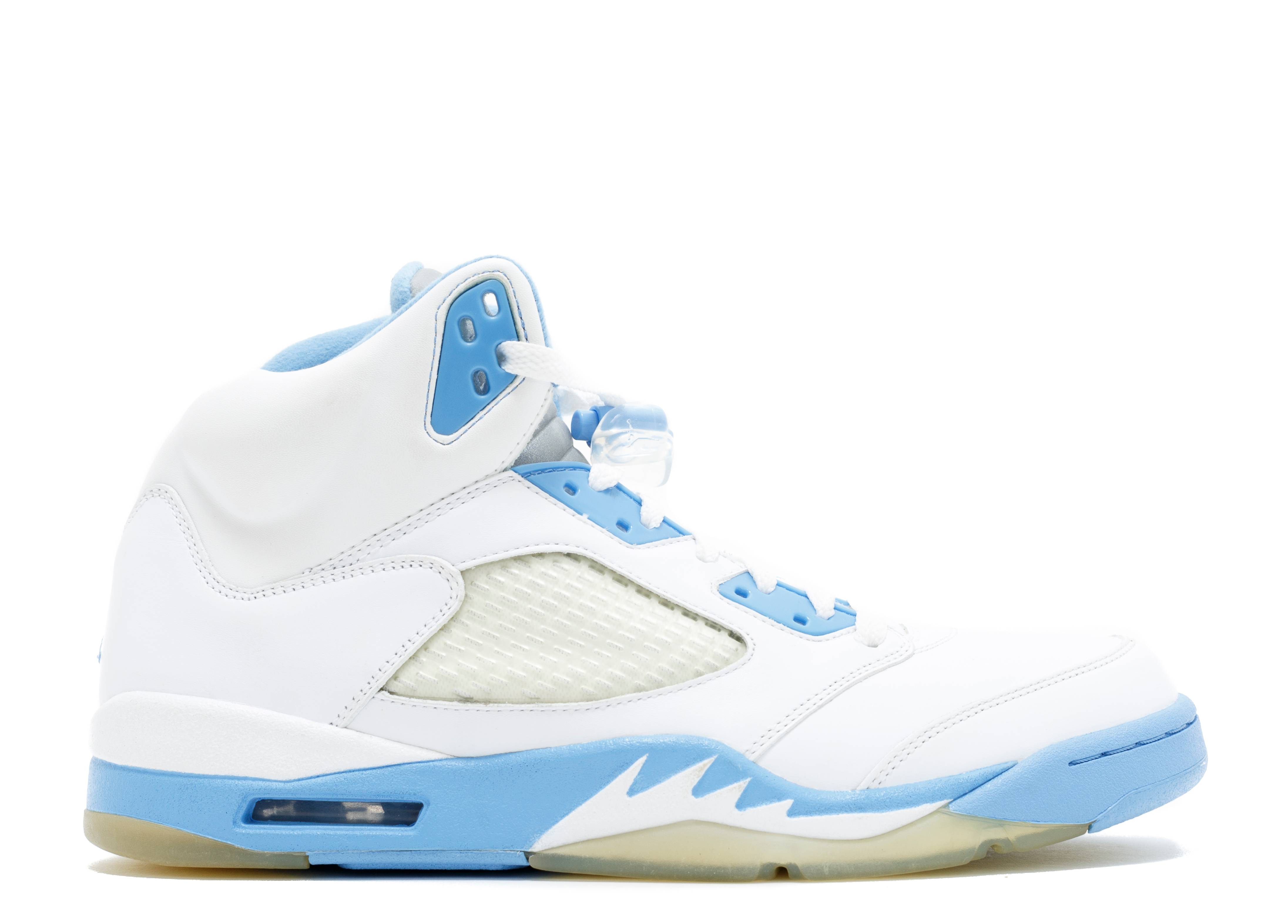 blue and white jordan 5