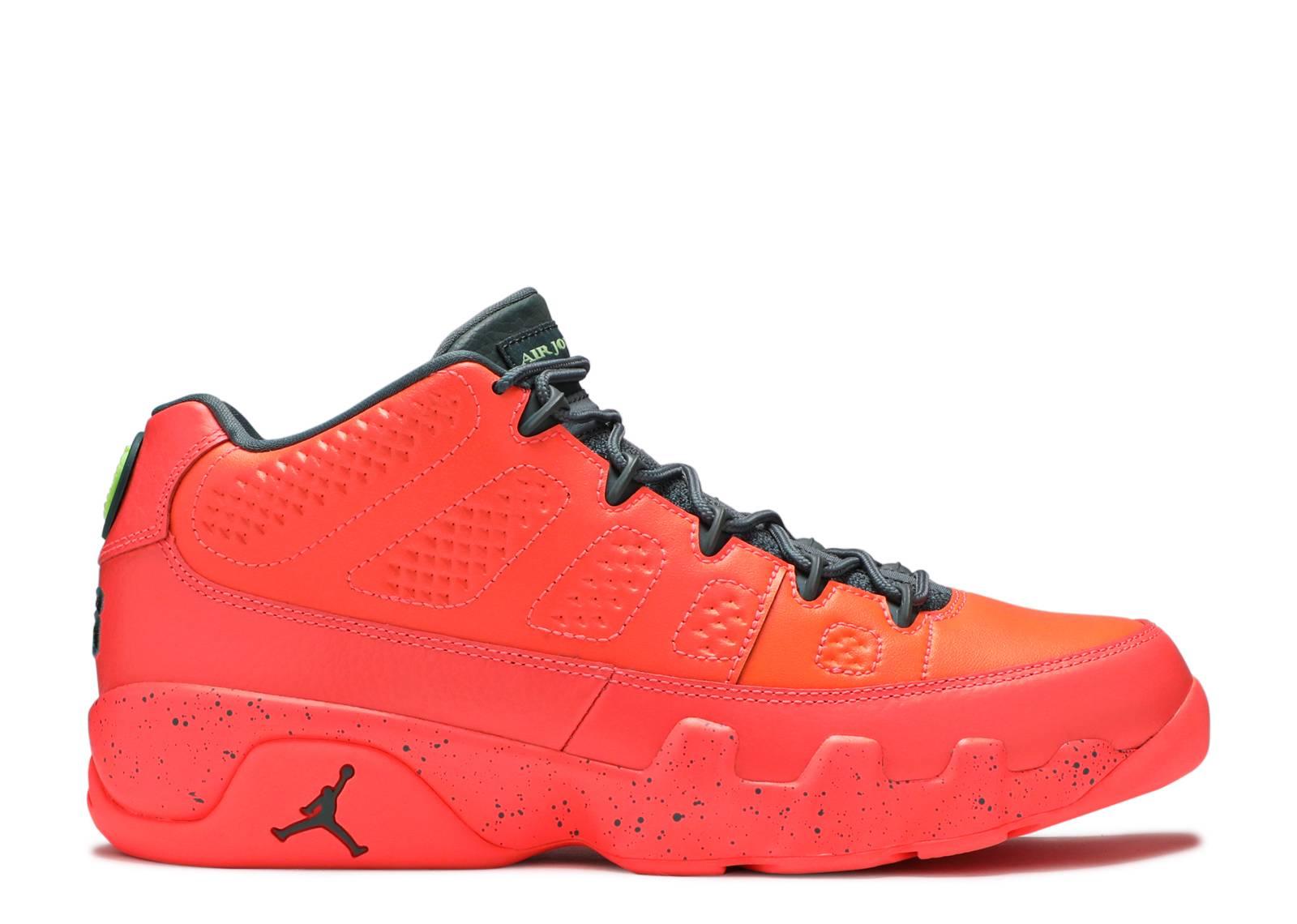 Factory Sale Mens Basketball Shoes - Nike Air Jordan Retro 9 Low Light Mango/Green