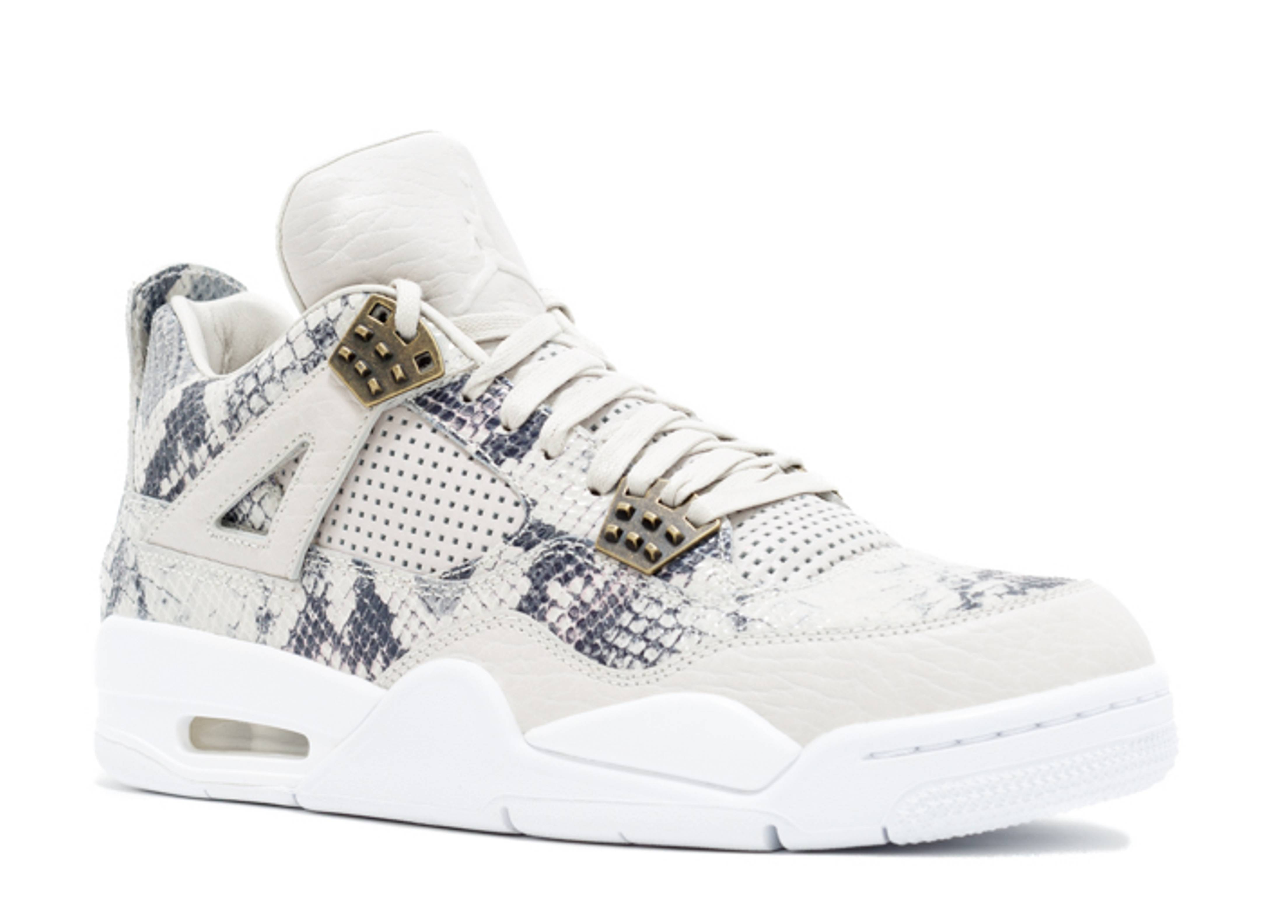 "White Retro: Air Jordan 4 Retro Premium ""pinnacle ""snakeskin"""""