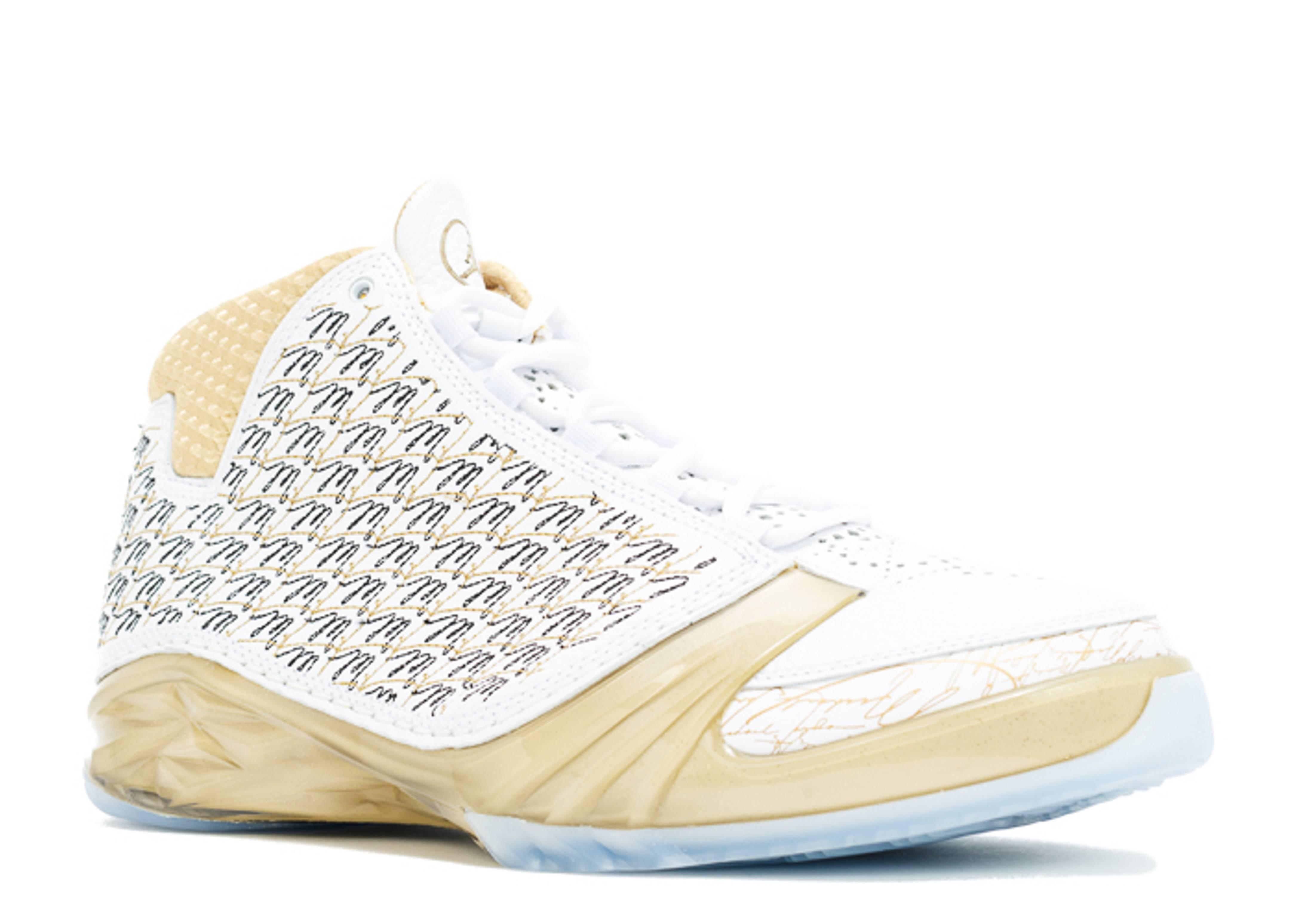 e6f43fe041e5 Air Jordan 23 Trophy Room - Air Jordan - 853336 123 - white mtlc gold-black-white