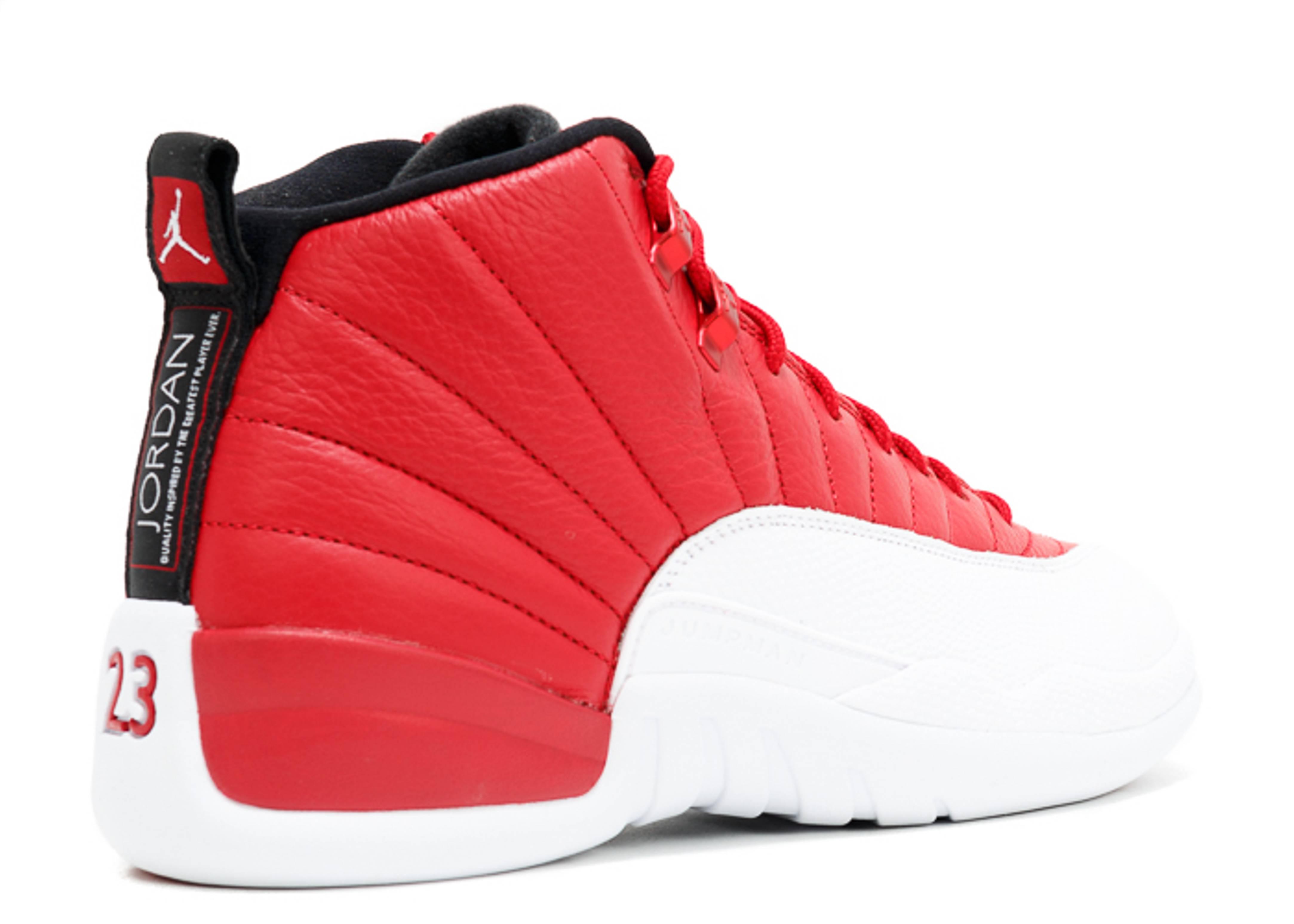 "air jordan 12 retro ""gym red"" - gym red/white-black - air jordan"