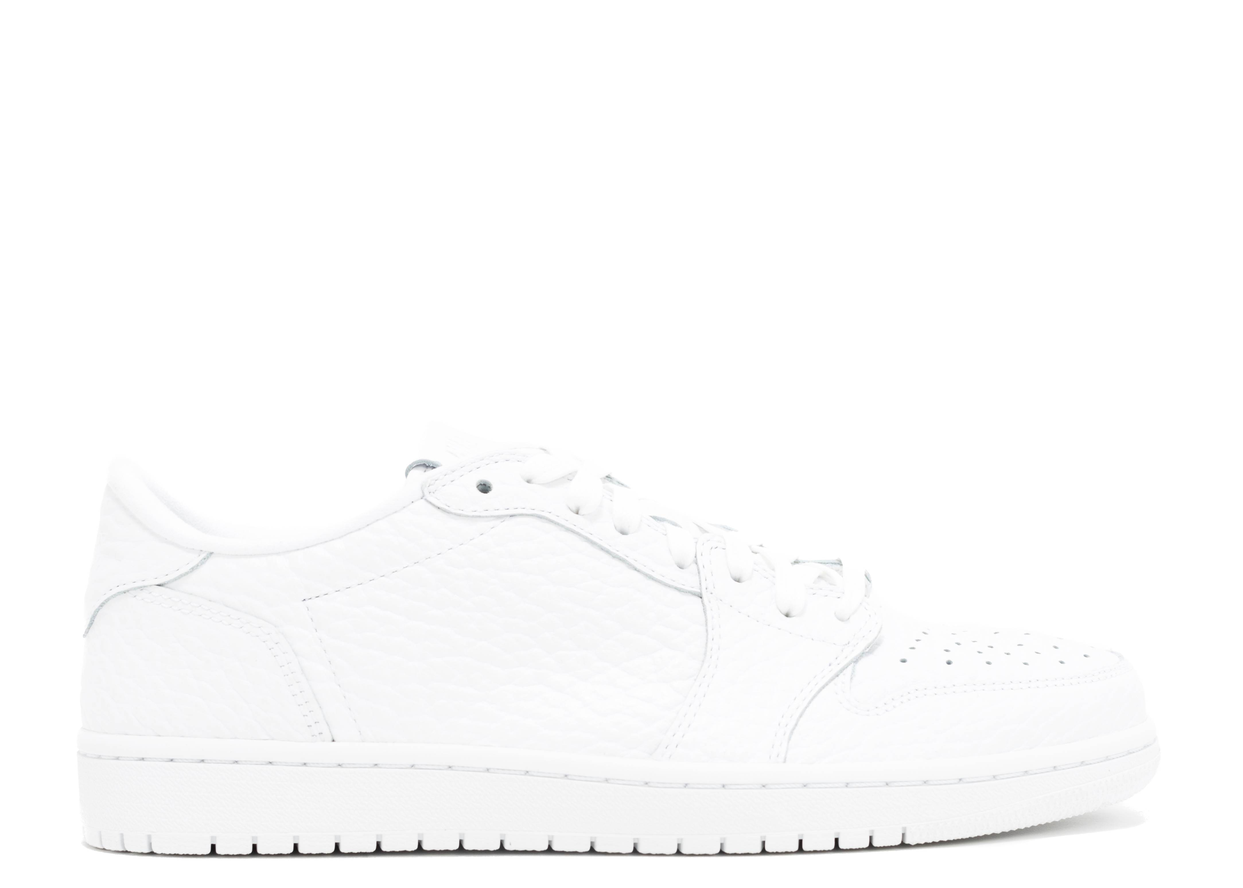 "Air Jordan 1 Swooshless 'Triple White' ""Triple White"""