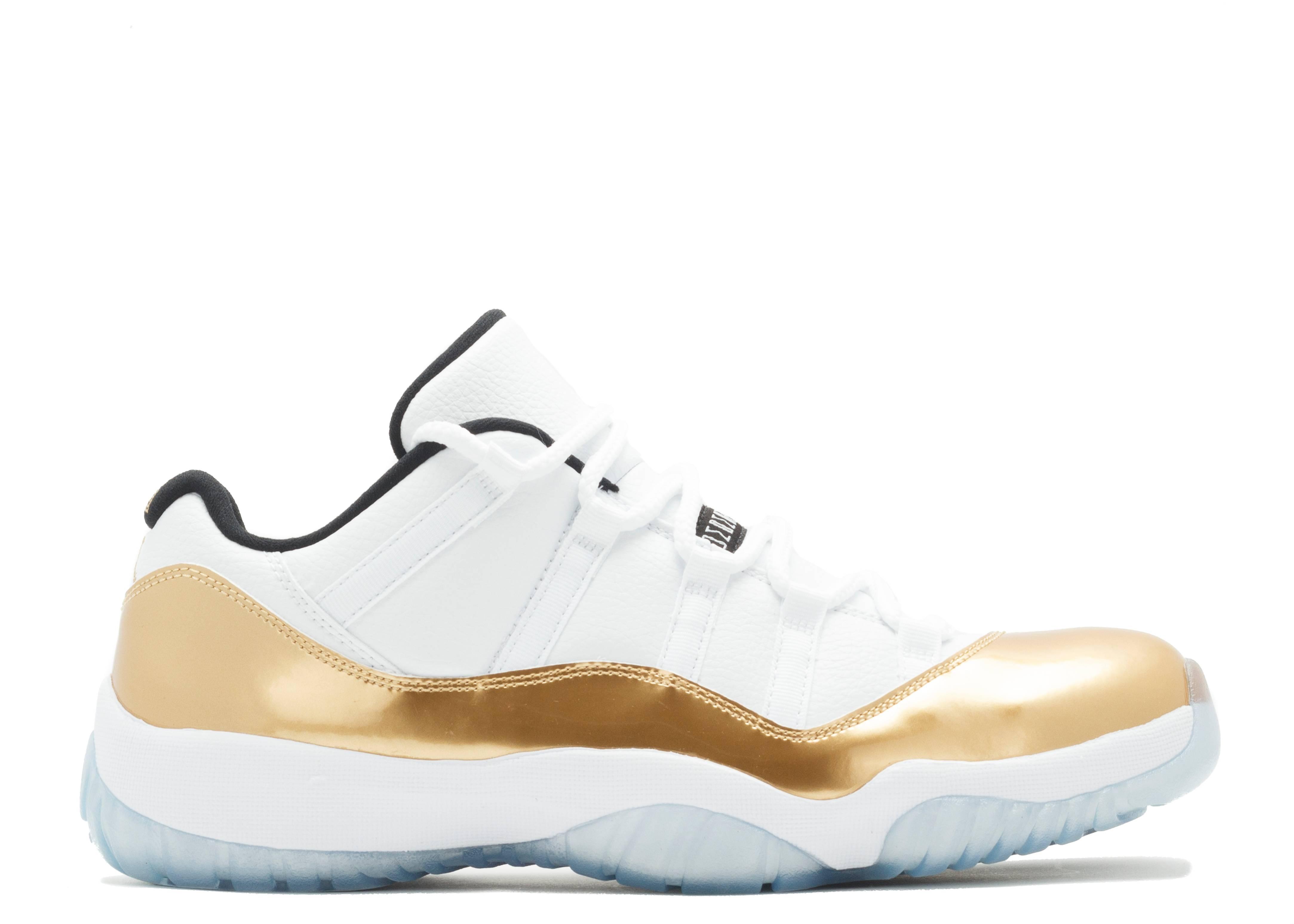 air jordan retro 11 gold white