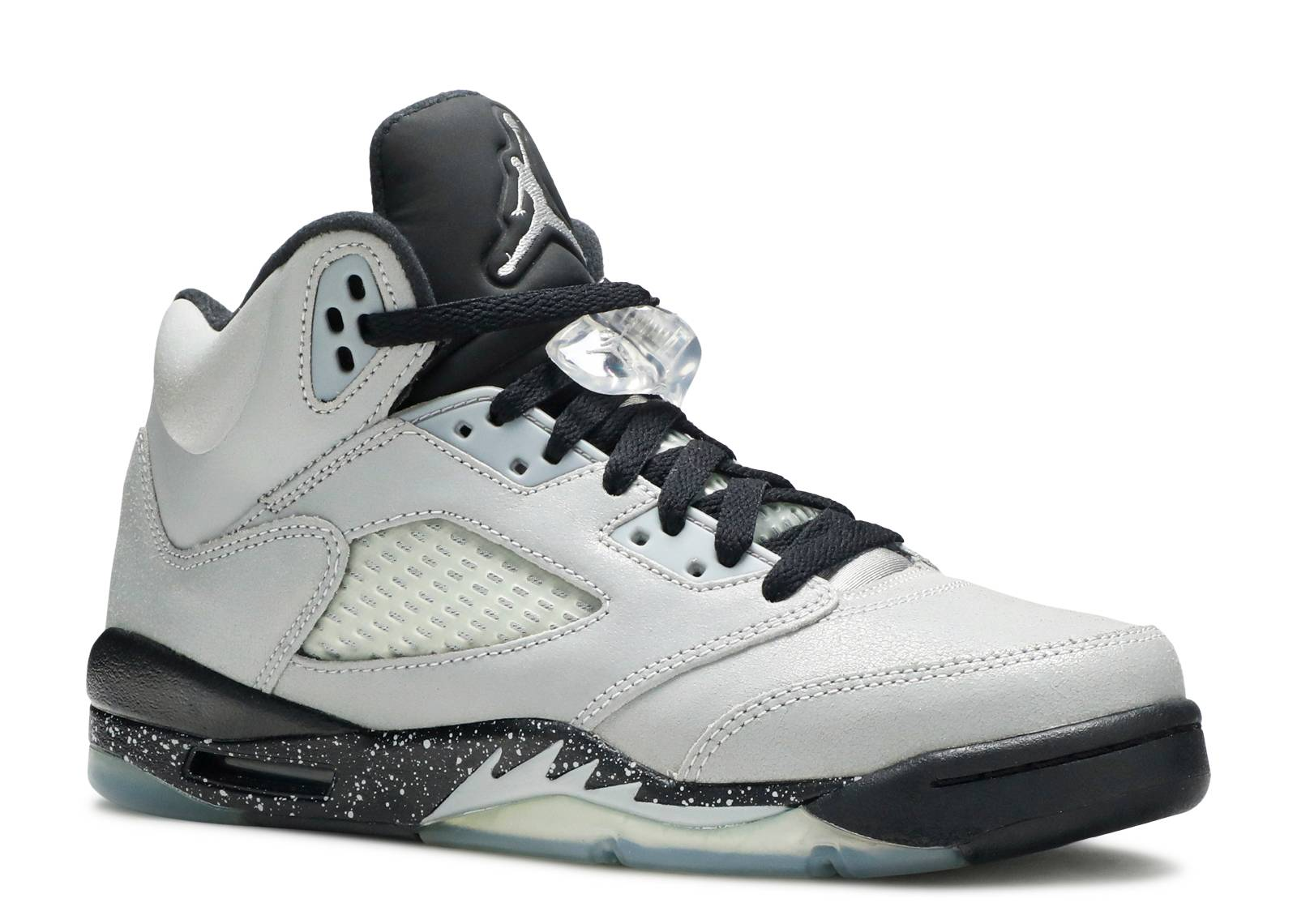 Nike Air Jordan V 5 Retro GG Wolf Grey//Black-Black 440892-008 Grade-School SZ 6Y