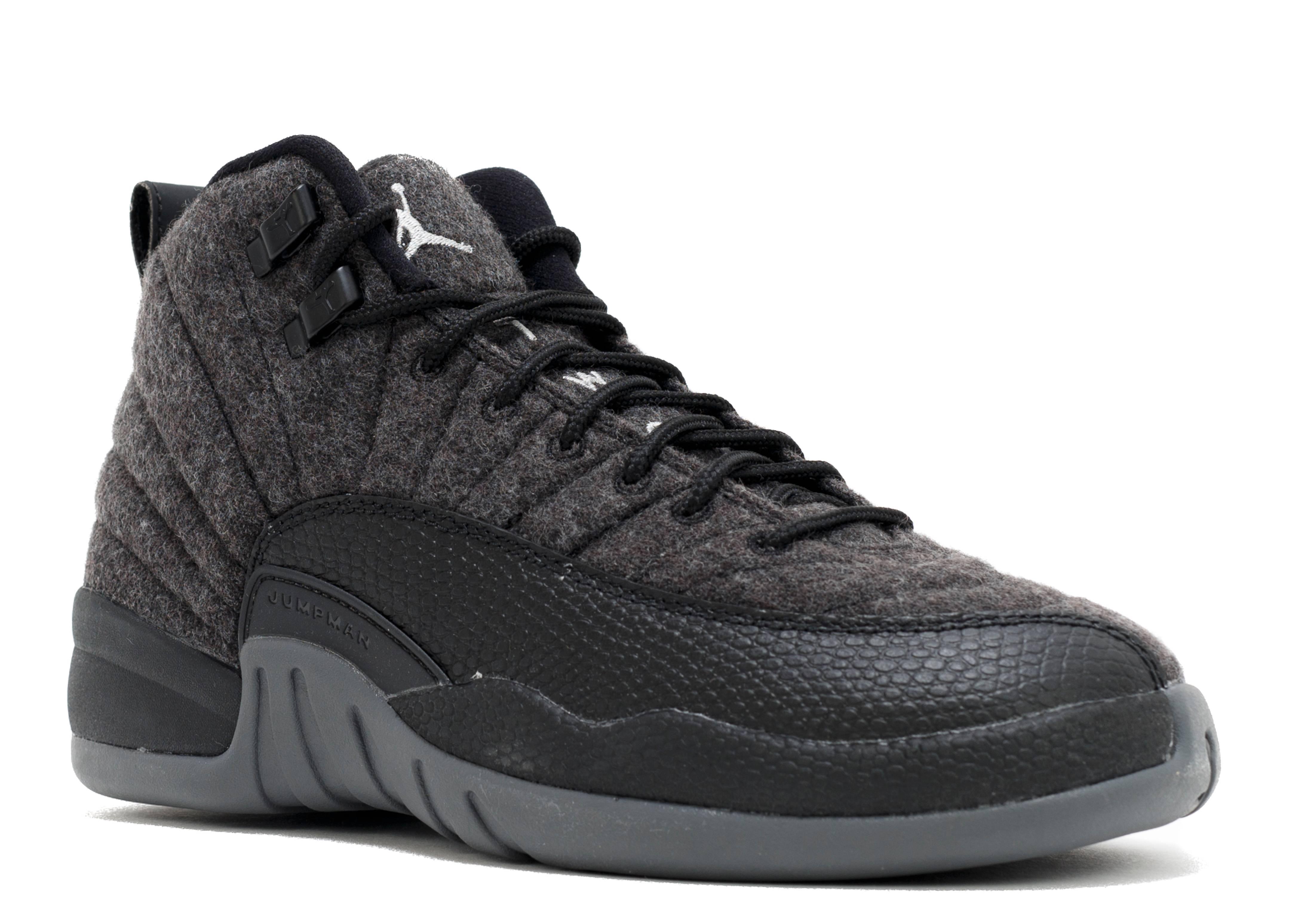 e1fddd8db7a01d Air Jordan 12 Retro Wool Bg (gs) - Air Jordan - 852626 003 - dark  grey-metallic silver-blac