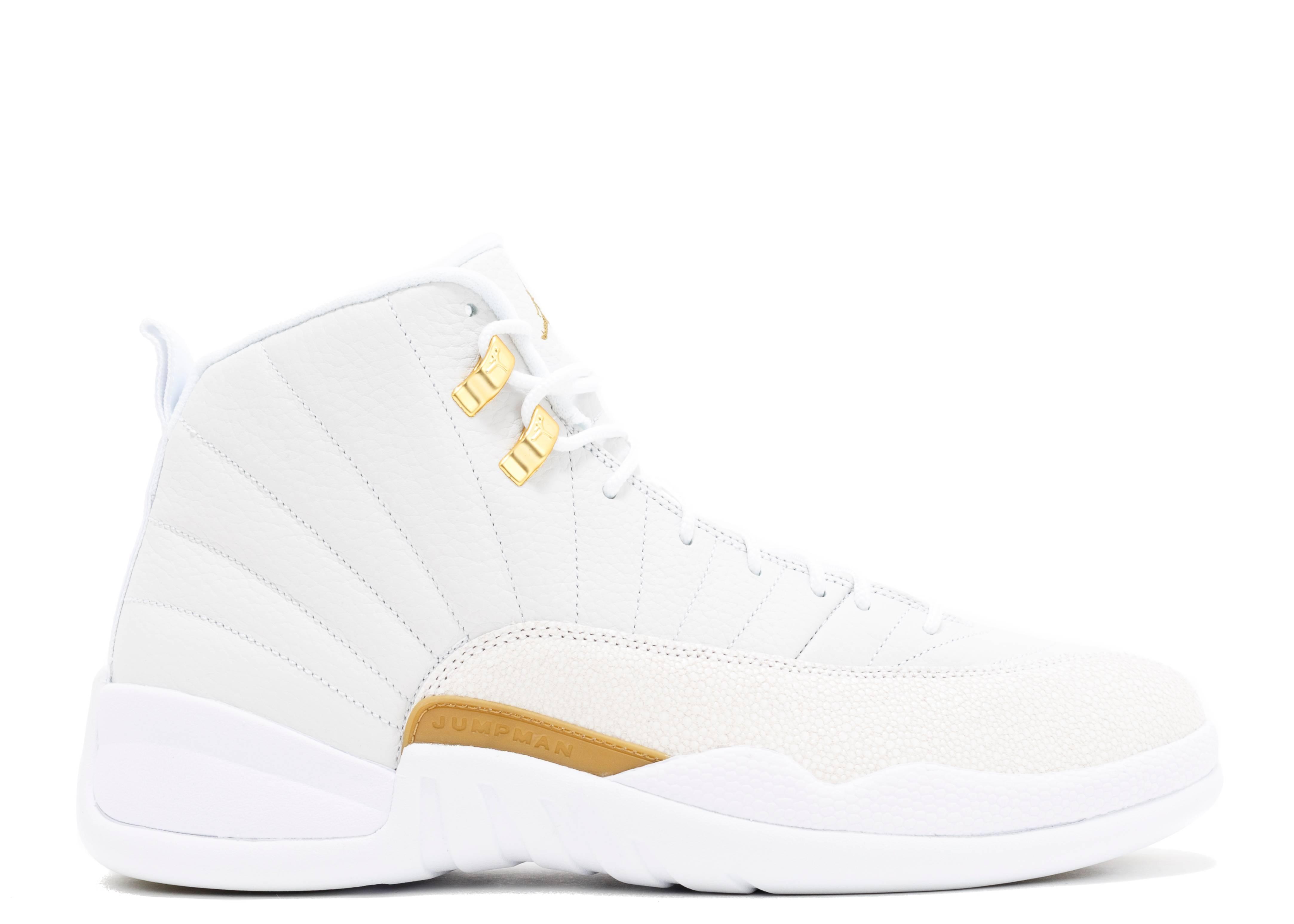 "air jordan 12 ""ovo"" - white/mtlc gold-white   Flight Club"