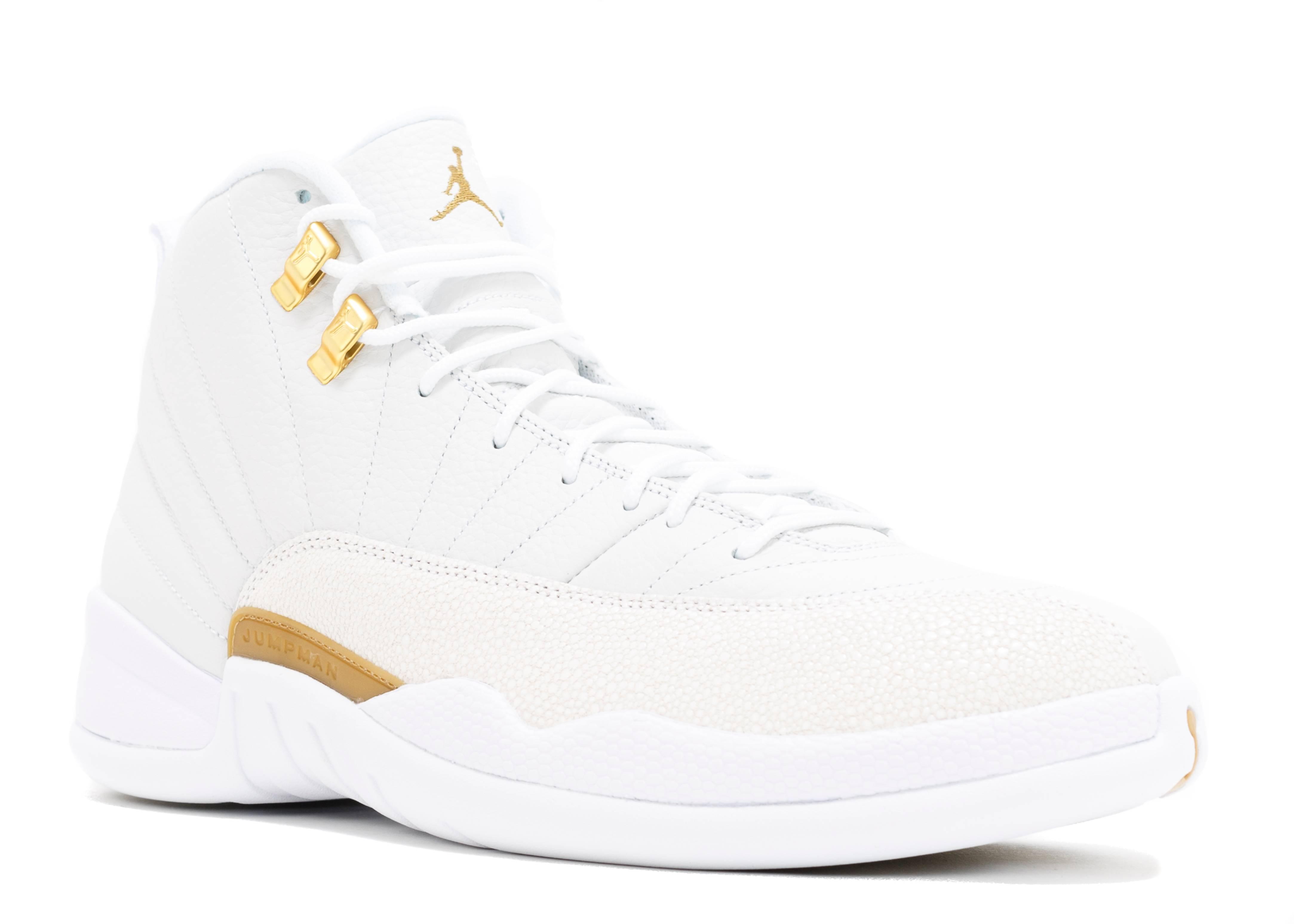 Air Jordan 12 Retro Ovo Quot Ovo Quot White Metallic Gold White
