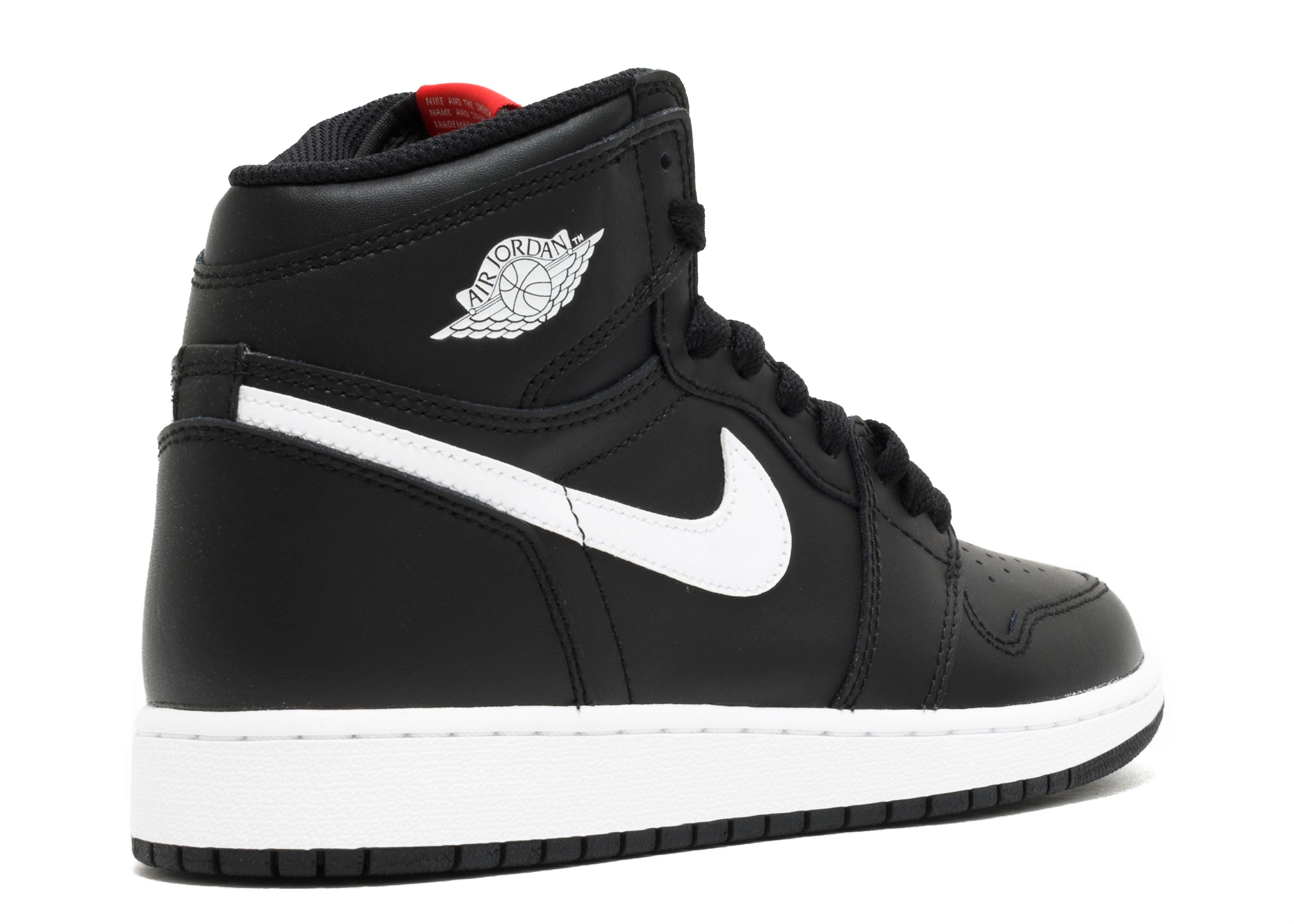 Nike Air Jordan Retro 1 High OG BG 575441-011 Yin Yang Black White Red GS NEW
