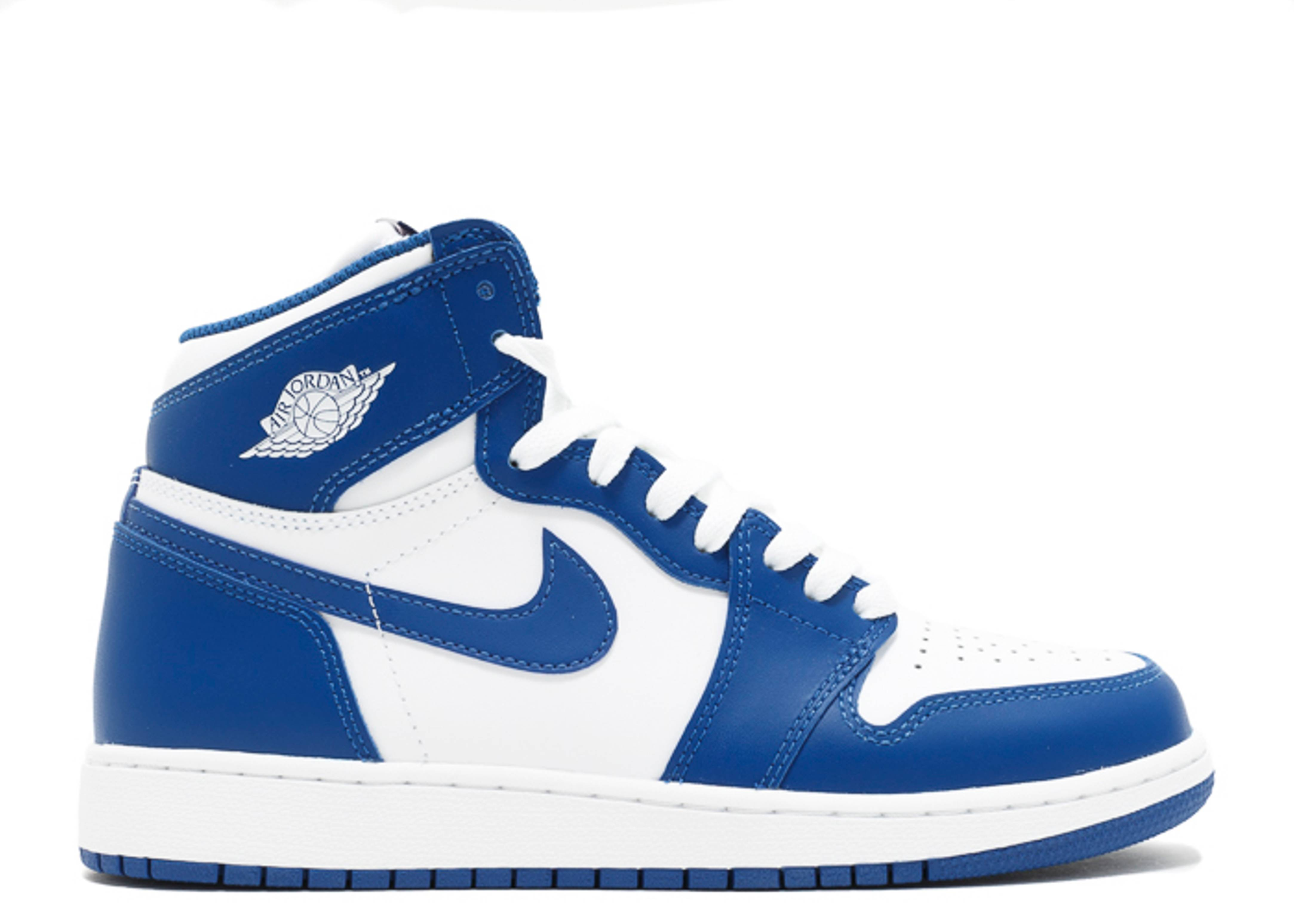 "air jordan 1 retro high og bg (gs) ""storm blue"""