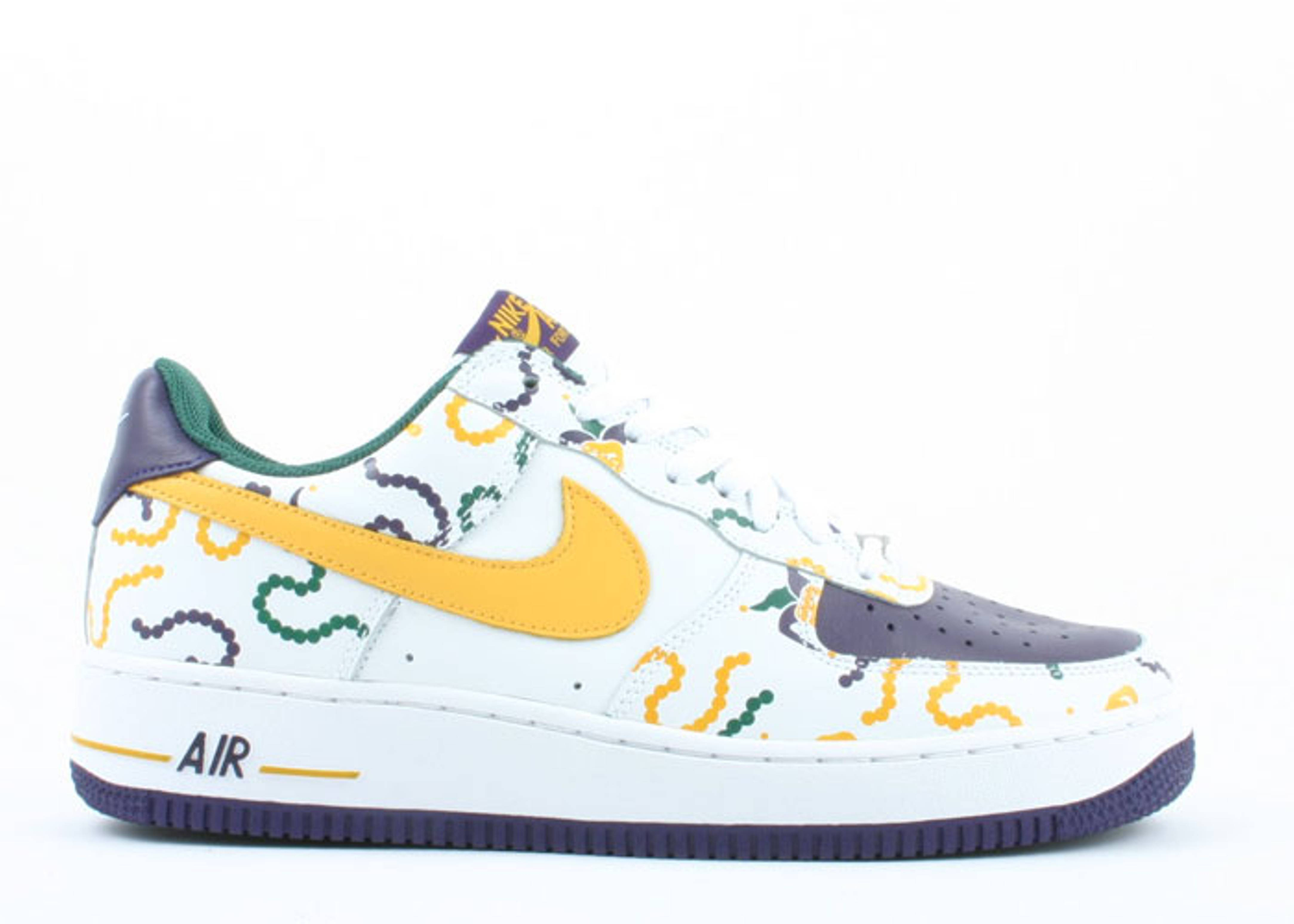 "air force 1 ""mardi gras"""