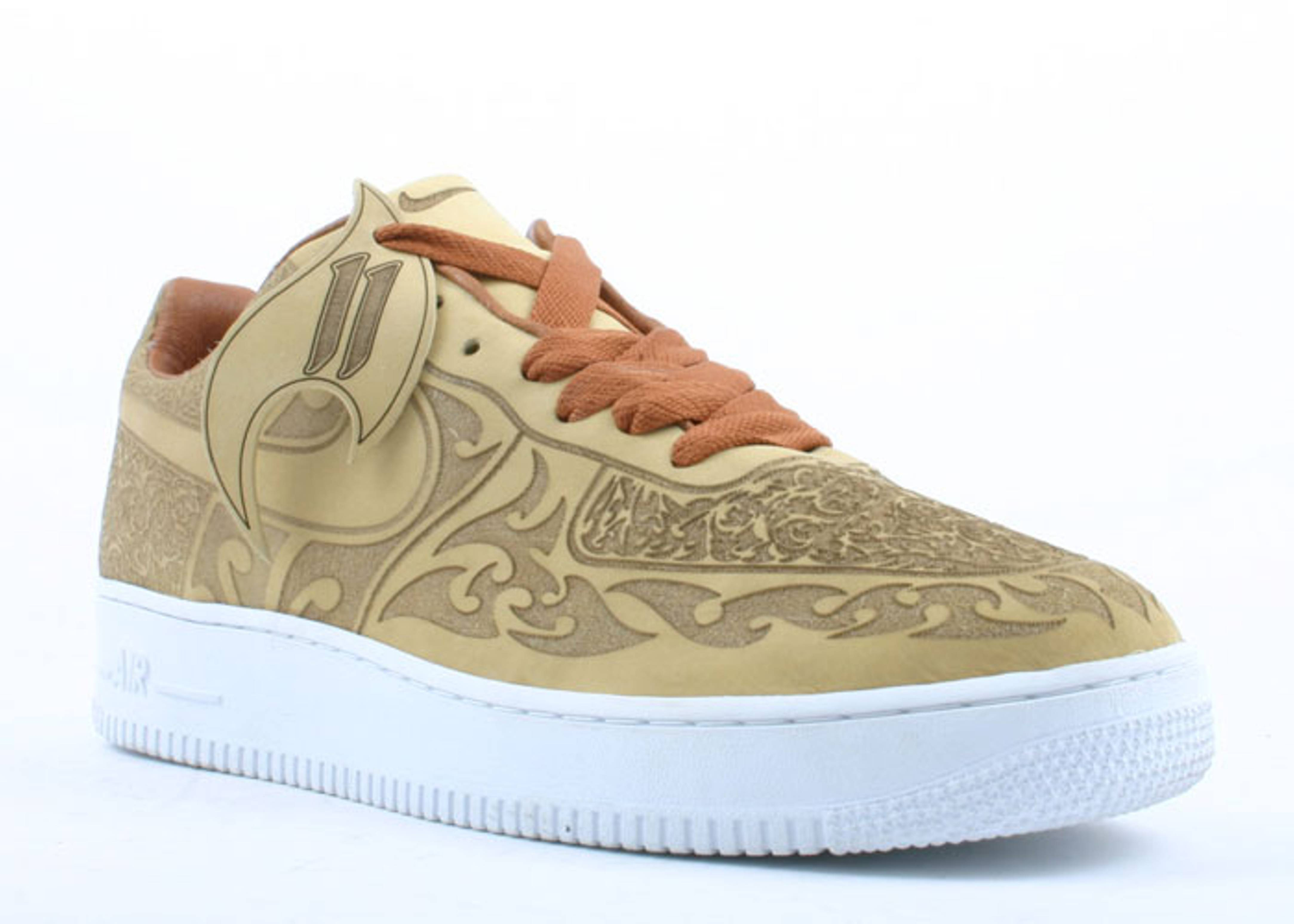 Nike Air Force 1 Low Mark Smith Cashmere Laser Sneakers (Cashmere/Cashmere-British Tan-White)