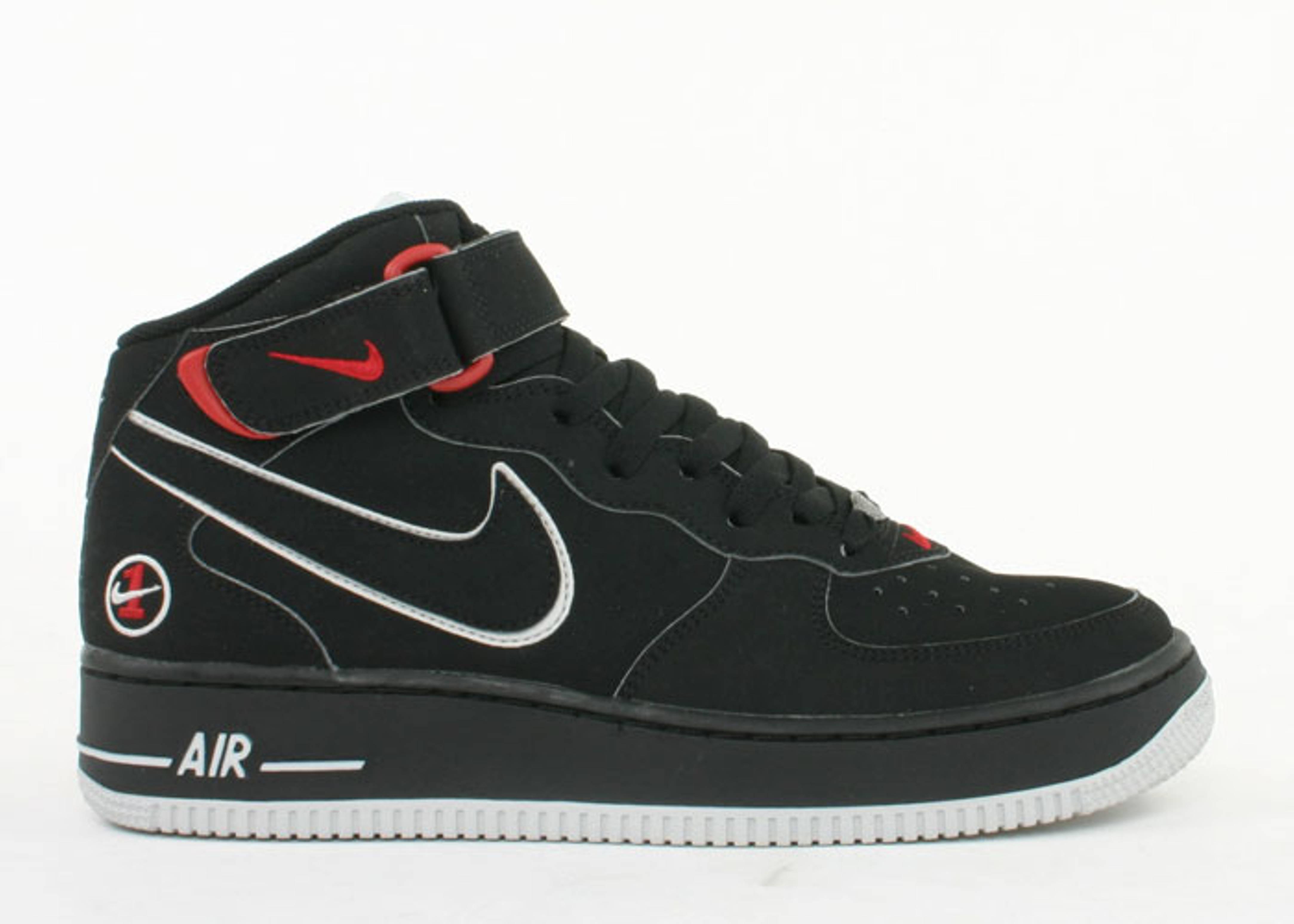 Nike Air Force 1 Mid (gs) Noir  / Noir  / Blanc  / Gris Neutre