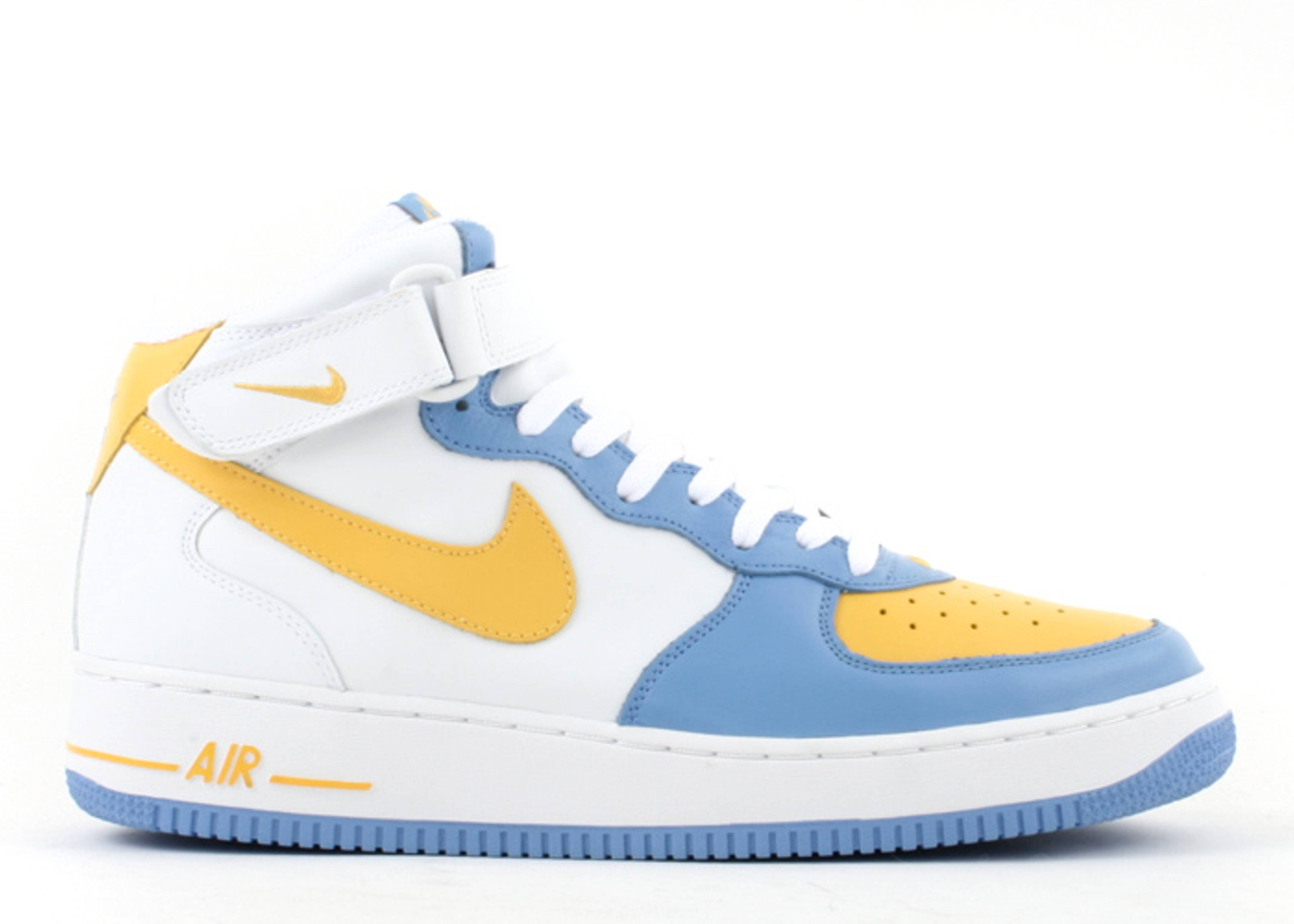 promo code 9c51d 717e8 Air Force 1 Mid - Nike - 306352 172 - white baby blue yellow   Flight Club