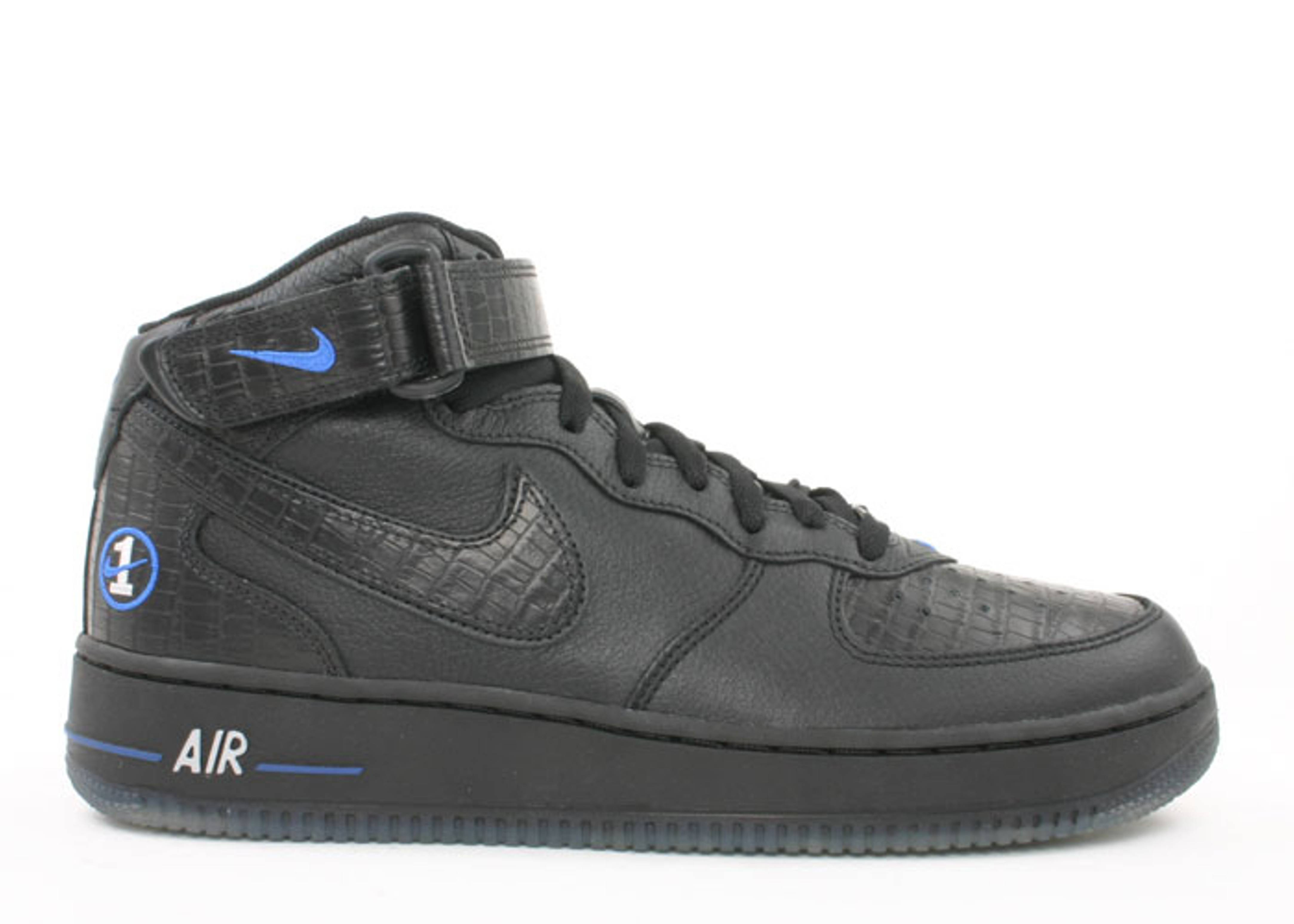 Air Force 1 Mid Nike 306340 002 Black Black Royal Blue