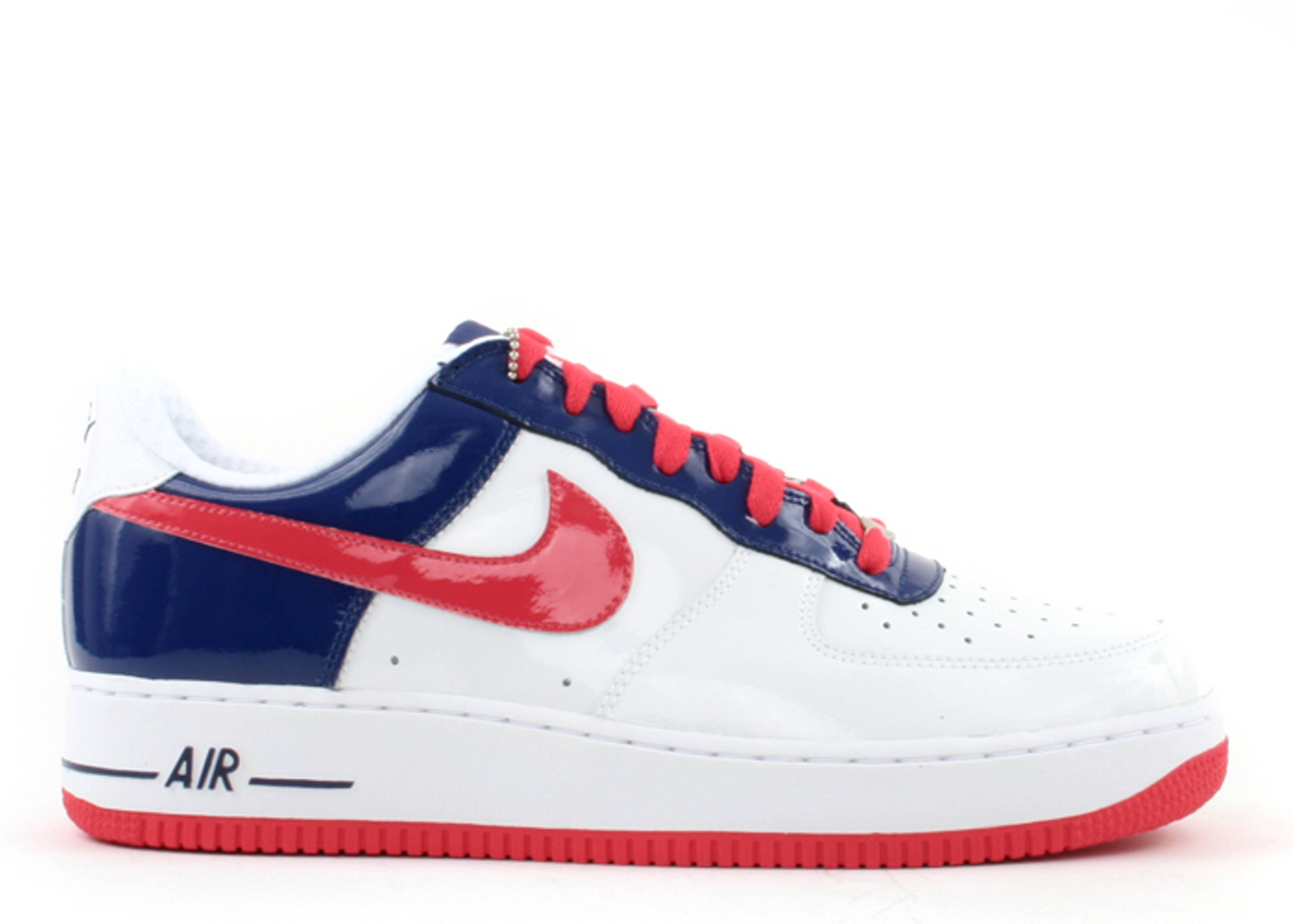 Nike Air Force 1 Low World Cup South Korea Sneakers (White/Grenadine-Deep Royal)