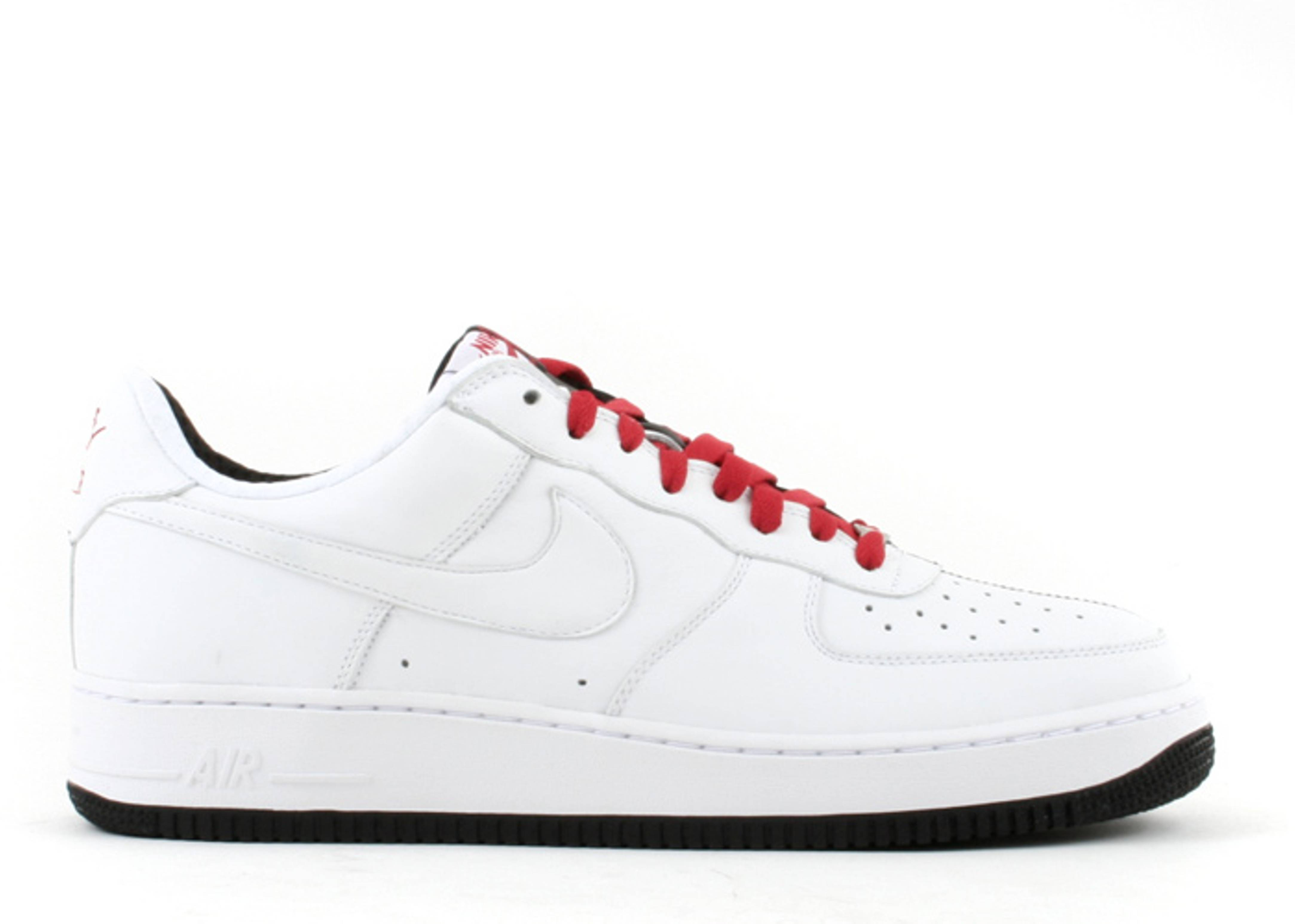Nike Air Force 1 Low Scarface Sneakers (White/Black-Varsity Red)