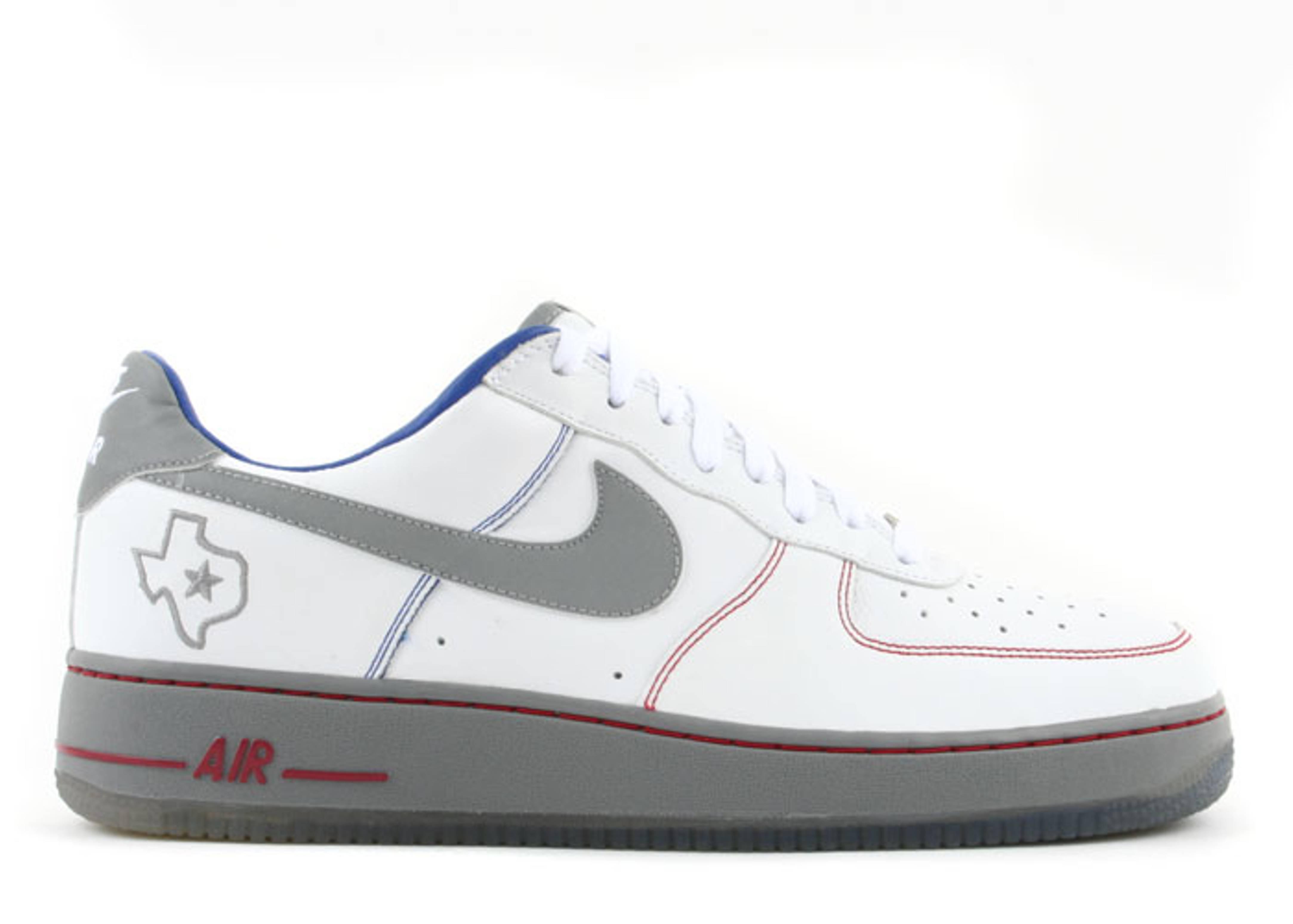 air force 1 low premium white/varsity royal-varsity red