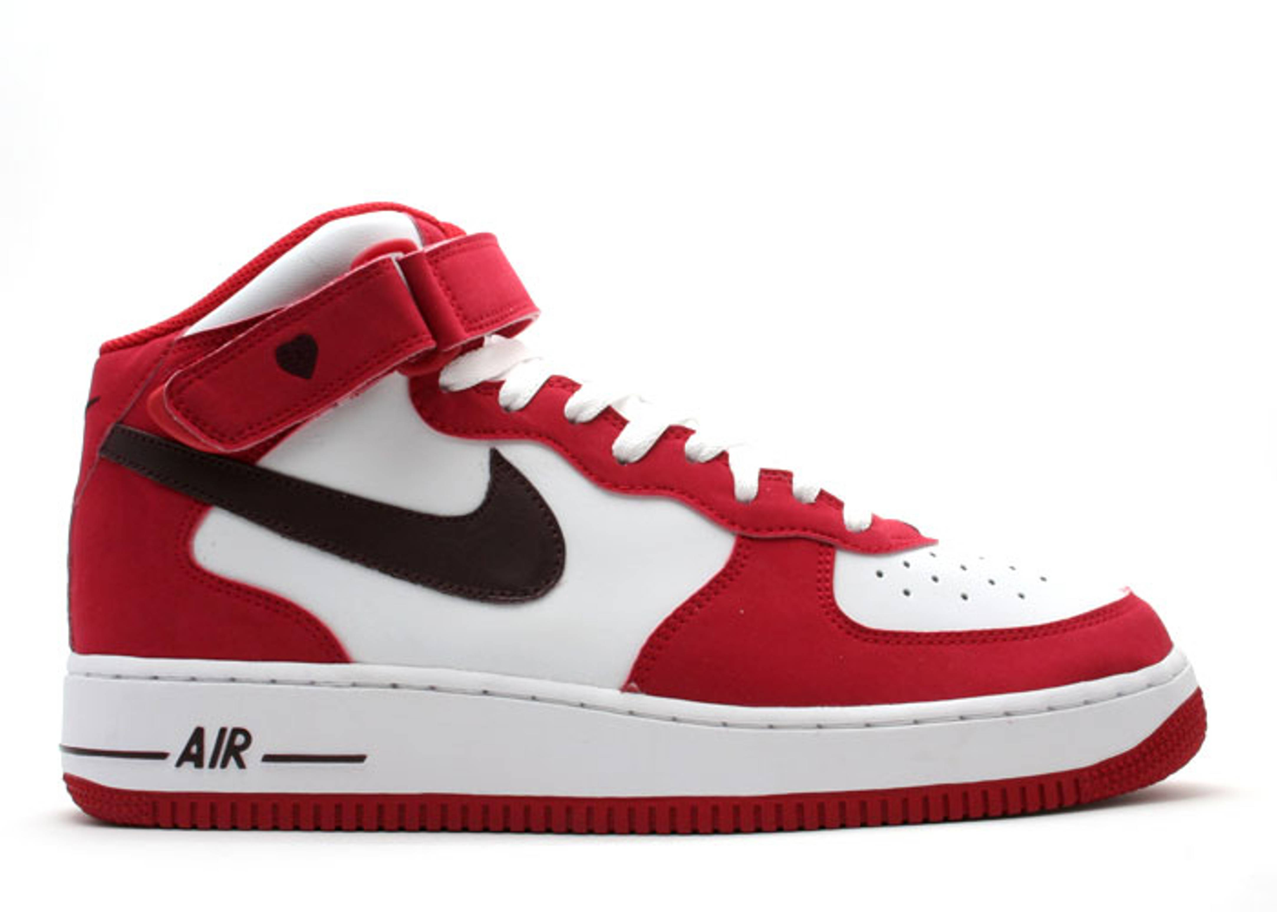 Womens Air Force 1 Mid Valentines Day Nike 308915 163 White