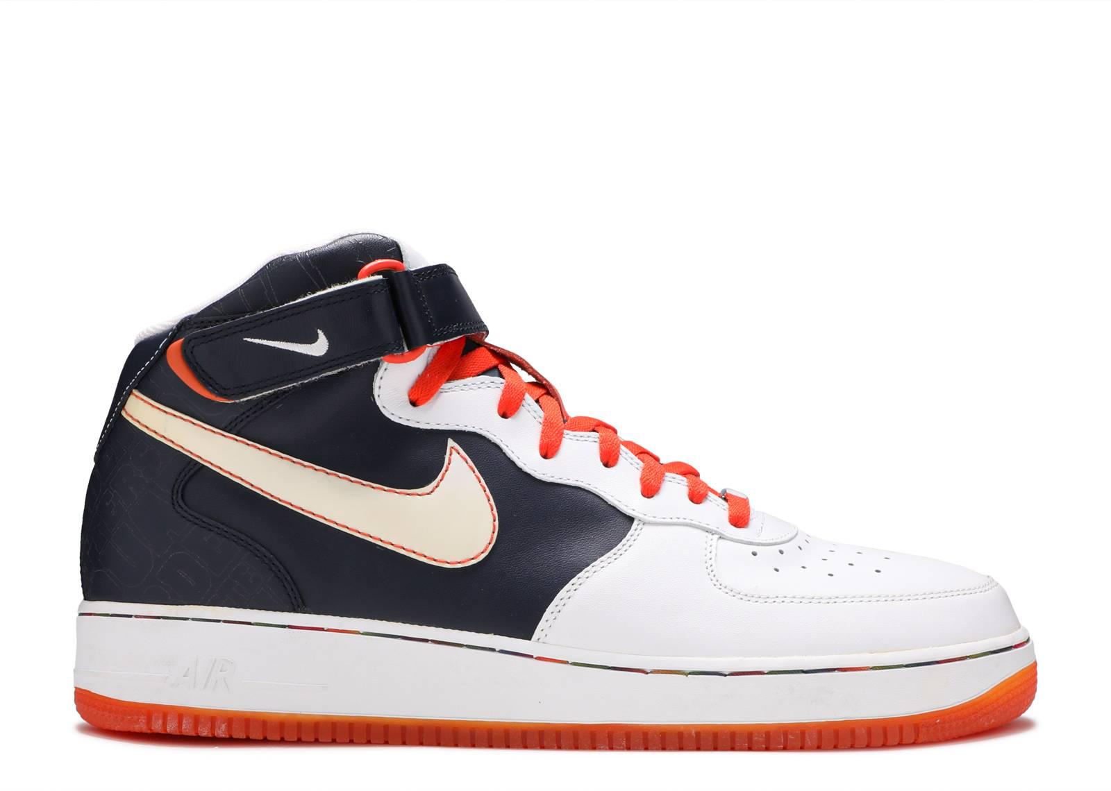 7b3f35f97a3 Air Force 1 Mid 07 - Nike - 315123 411 - obsidian white-orange blaze ...