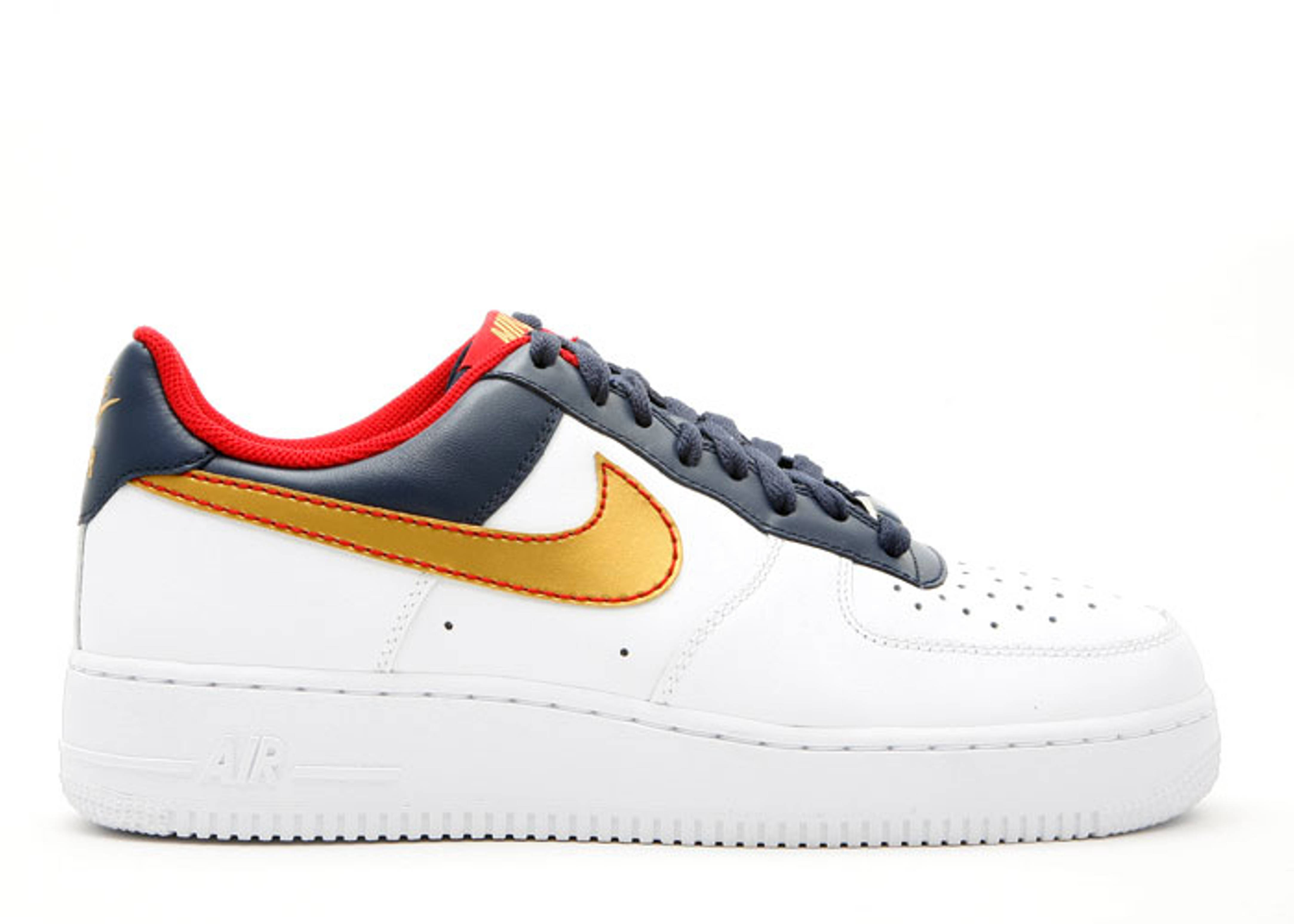 huge discount f5870 f2464 Air Force 1 Low - Nike - 317295 171 - white metallic gold-midnight ...