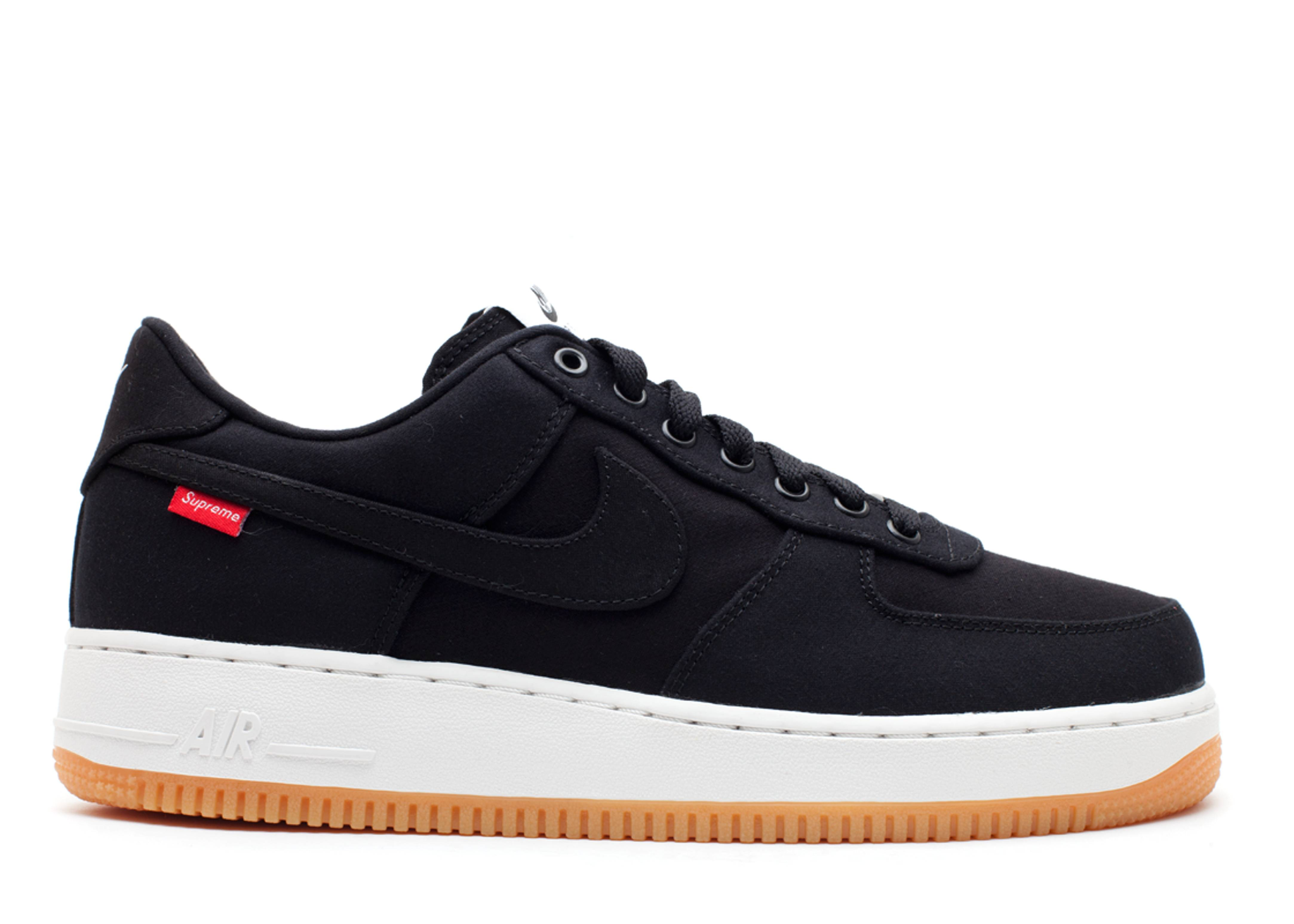 supreme x nike air force 1 low svart. Black Bedroom Furniture Sets. Home Design Ideas