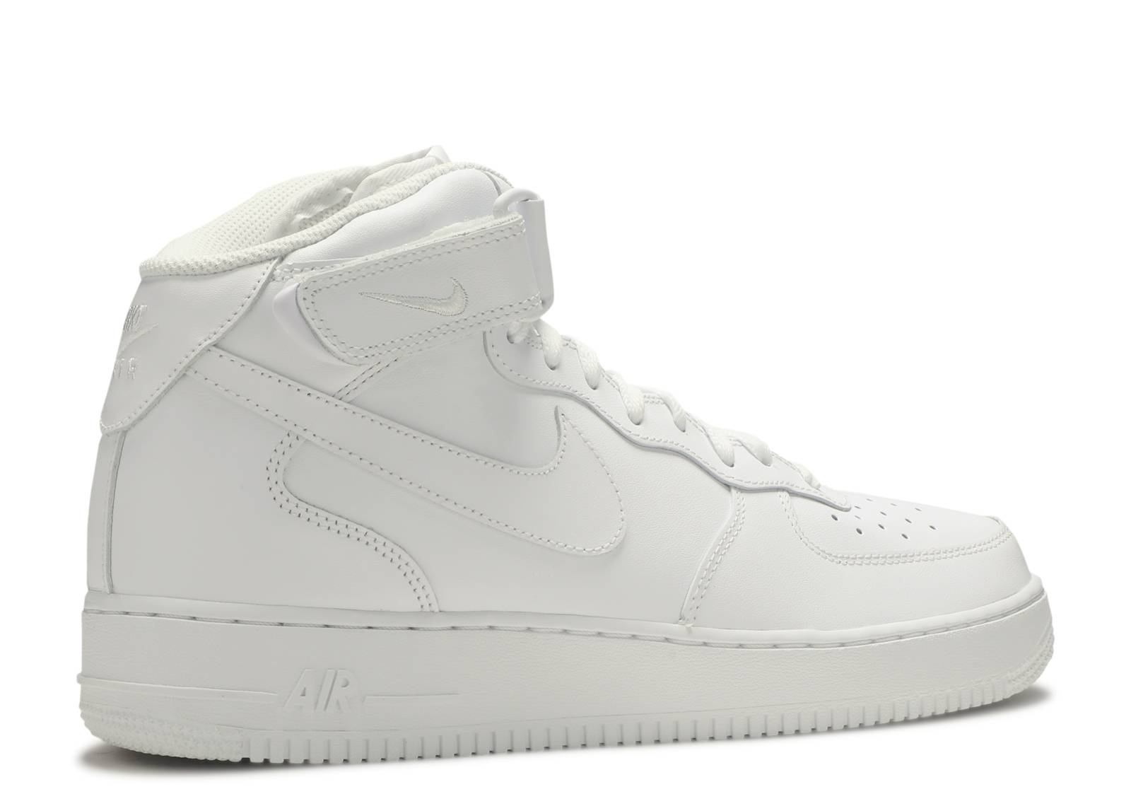 white mid air force ones