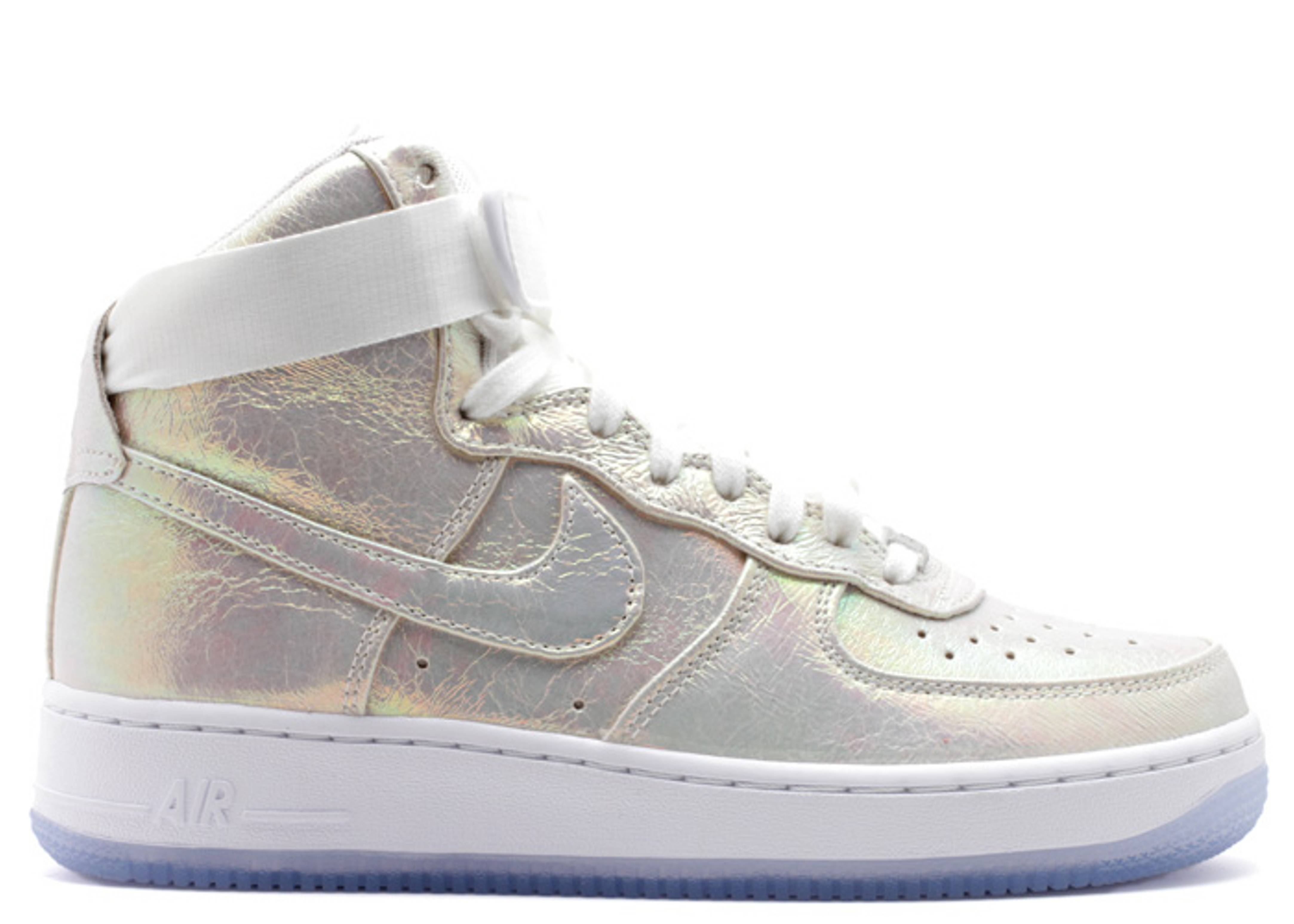 nike. w's air force one hi prm qs iridescent