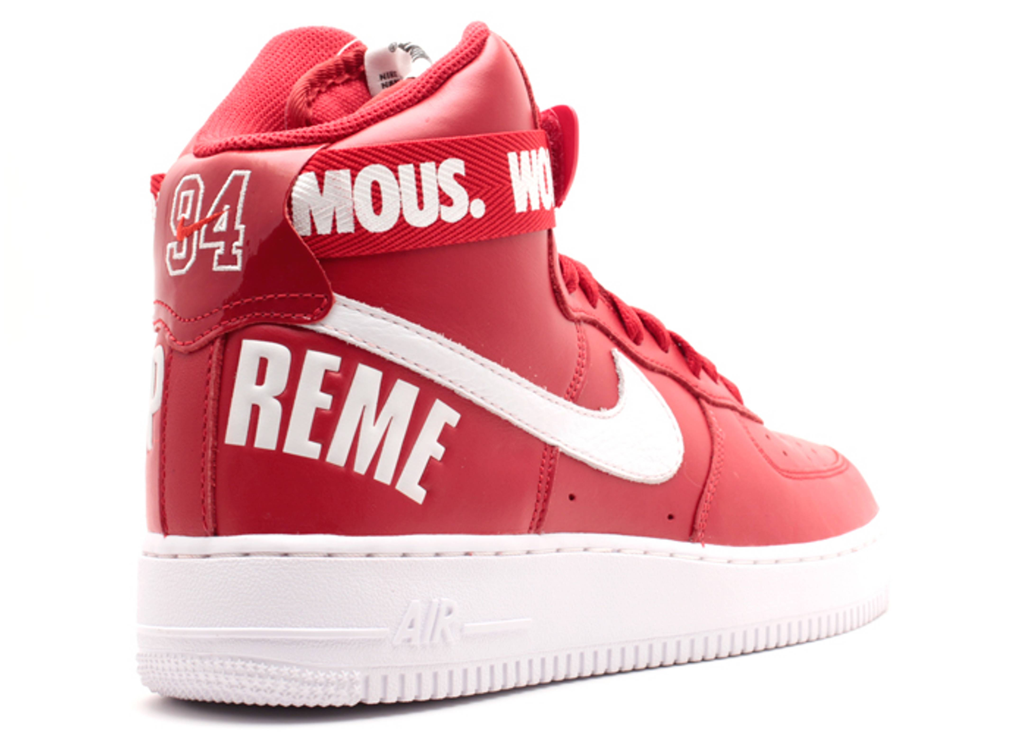 nike air force ones red