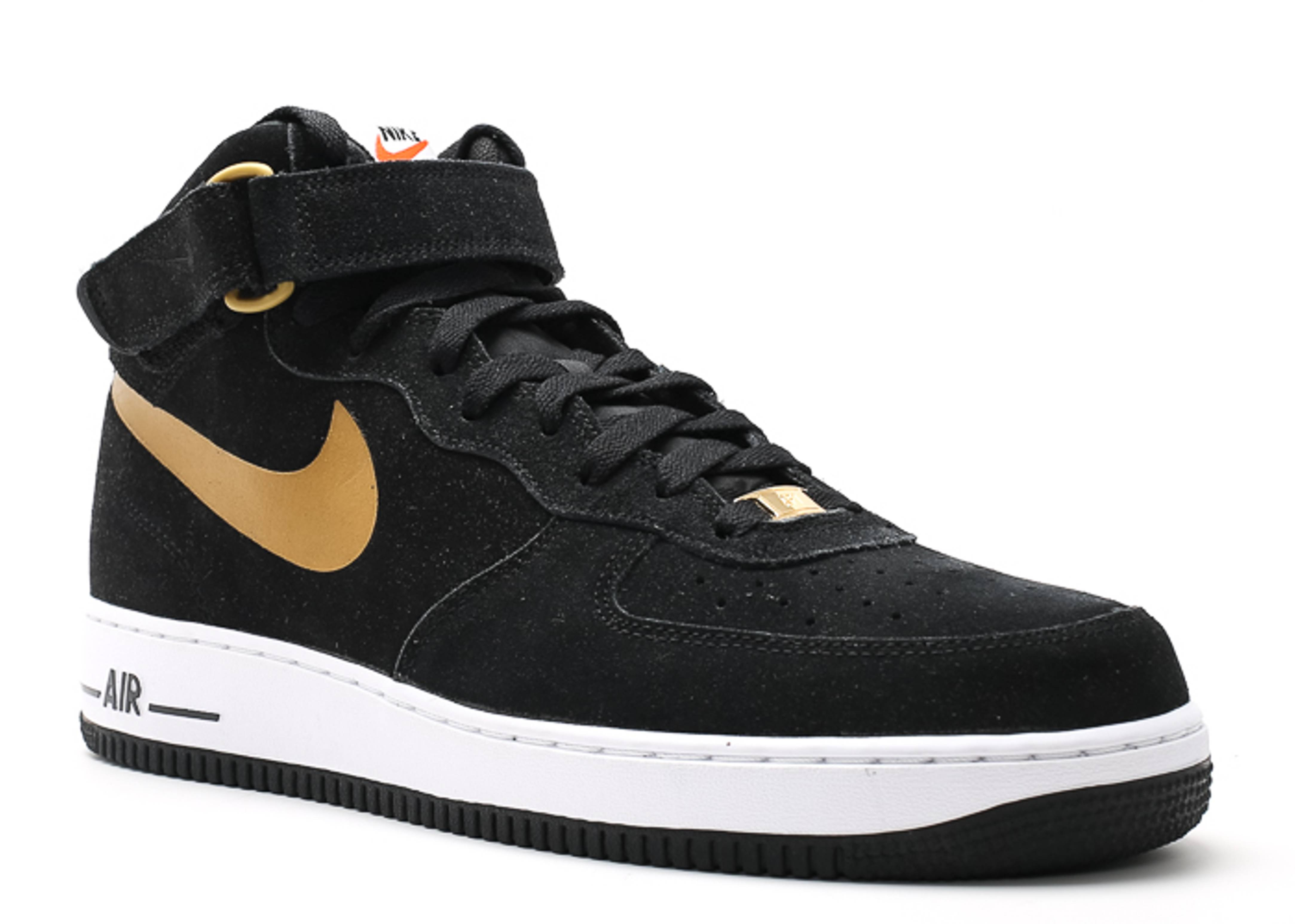 air force 1 mid 07 black metallic gold white. Black Bedroom Furniture Sets. Home Design Ideas