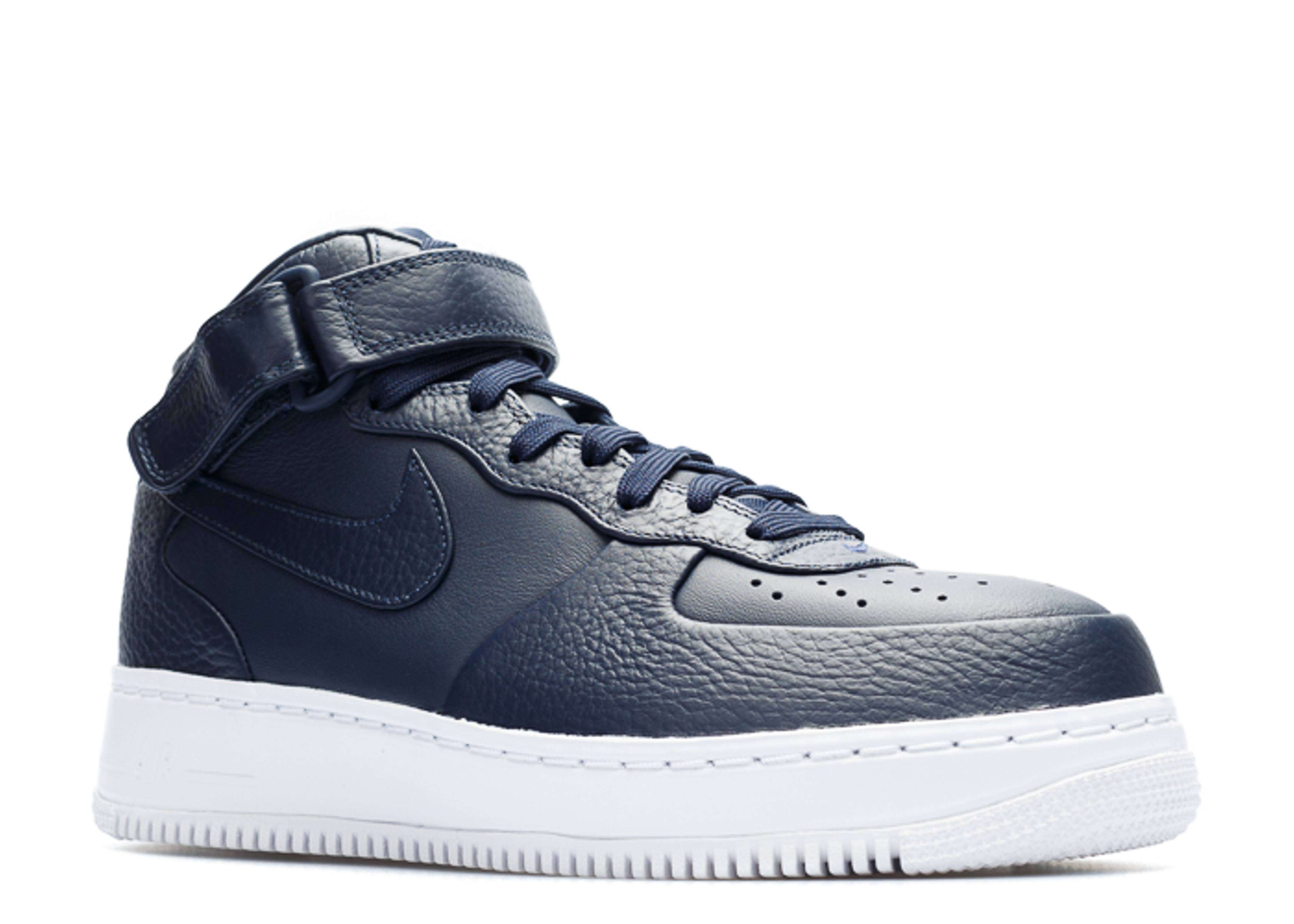 Nike Nikelab Air Force 1 Mid Obsidian Obsidian White 021475 on 819677