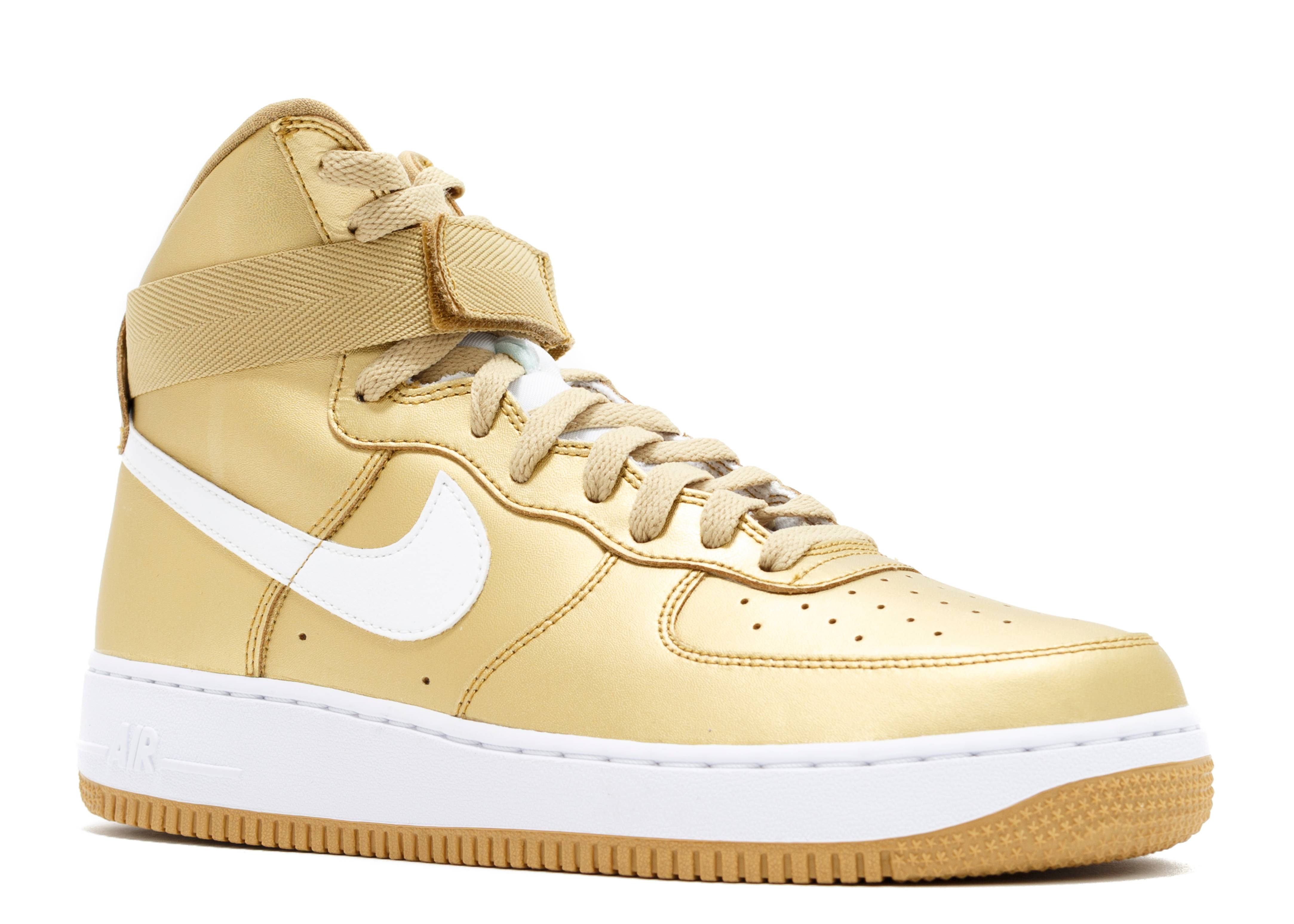 buy popular f97f3 c3375 where can i buy air force 1 high retro qs nike 823297 700 metallic gold  white