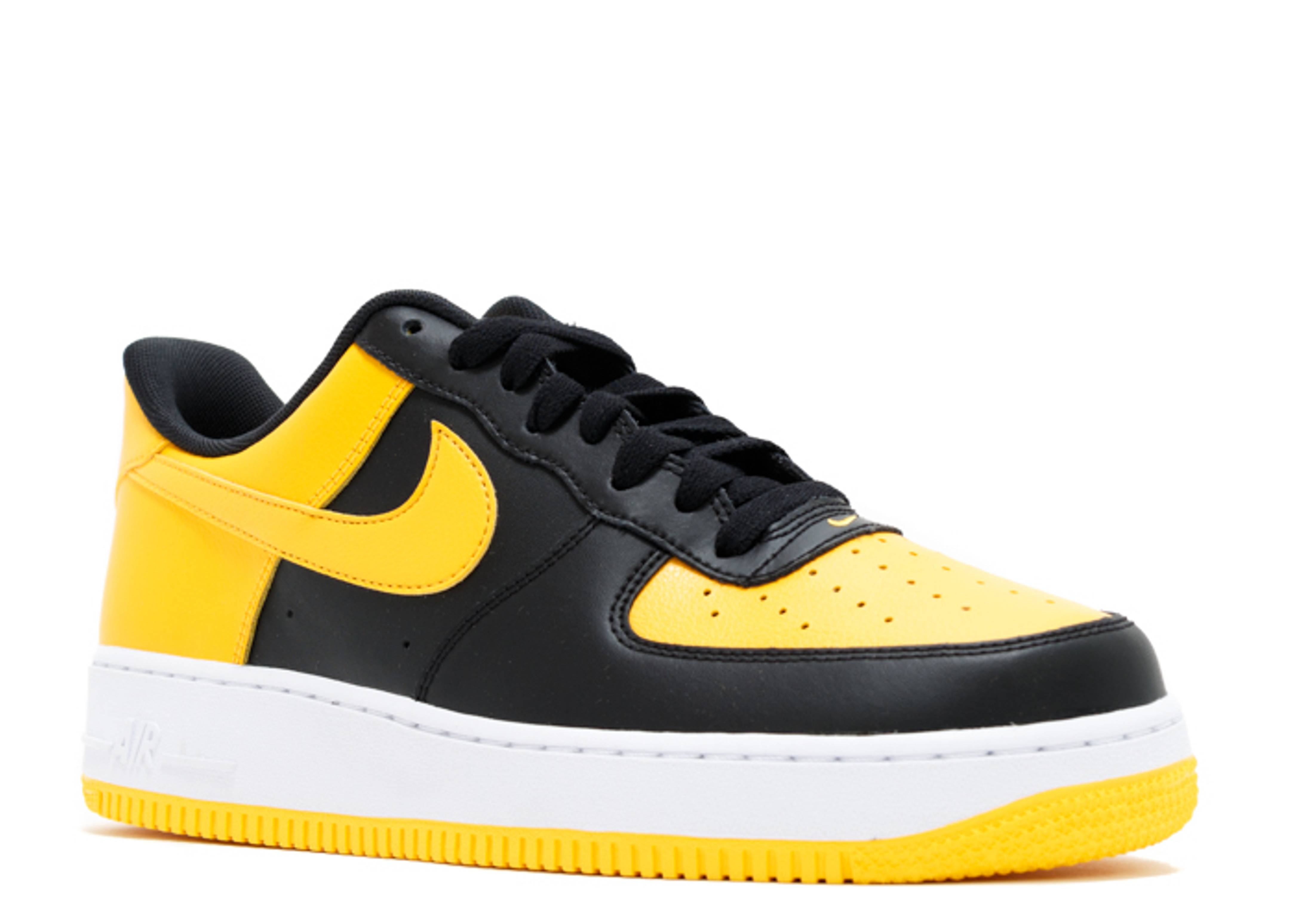 black and yellow air force 1 high top
