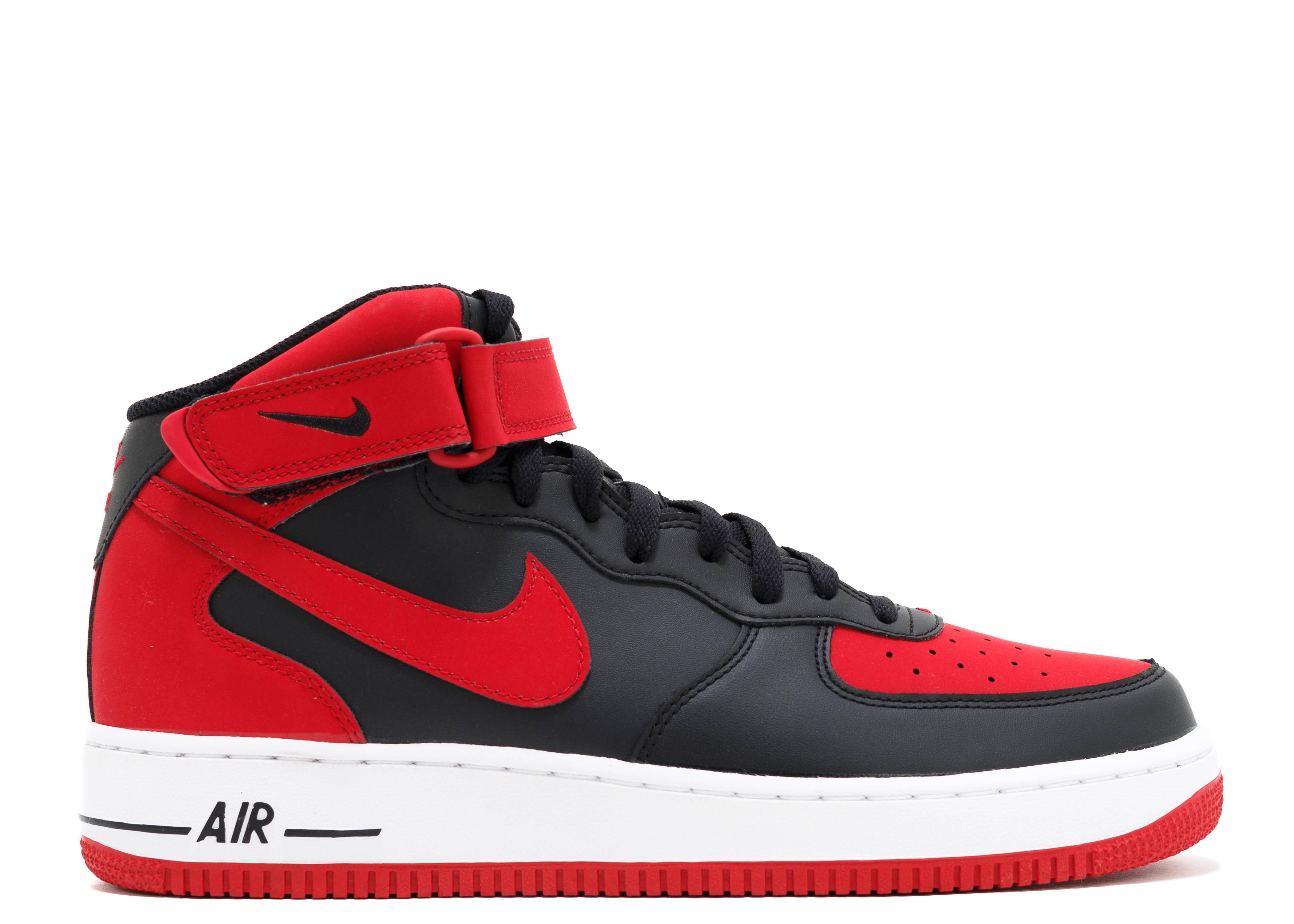 Air Force 1 Mid 07 Black Gym Red Nike 315123 029 Black