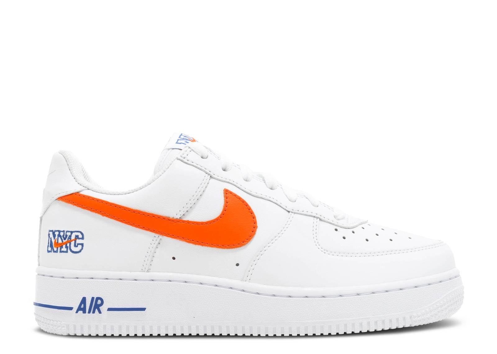 Nike Air Force 1 Orange Et Blanc