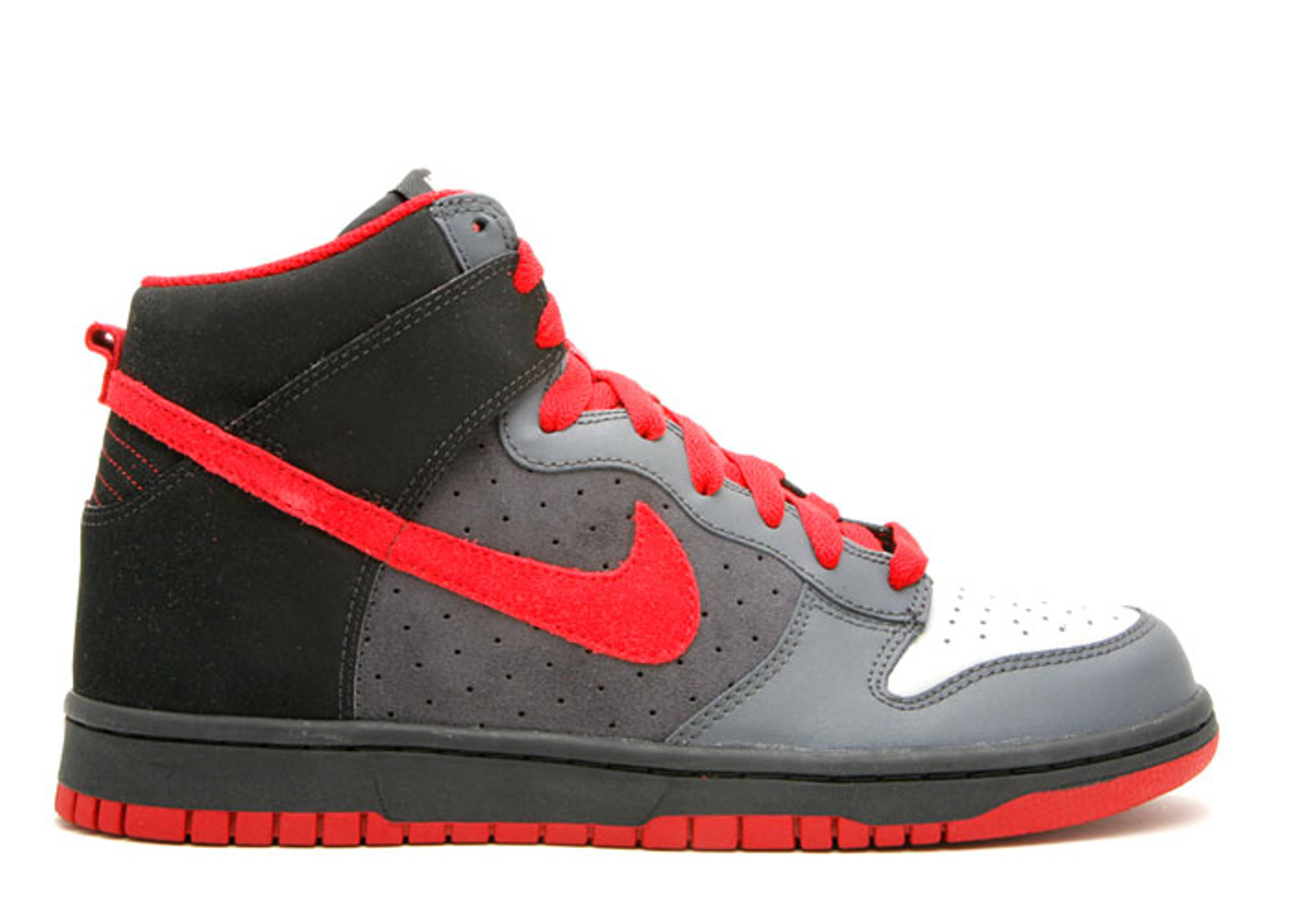 red black and grey nike dunks