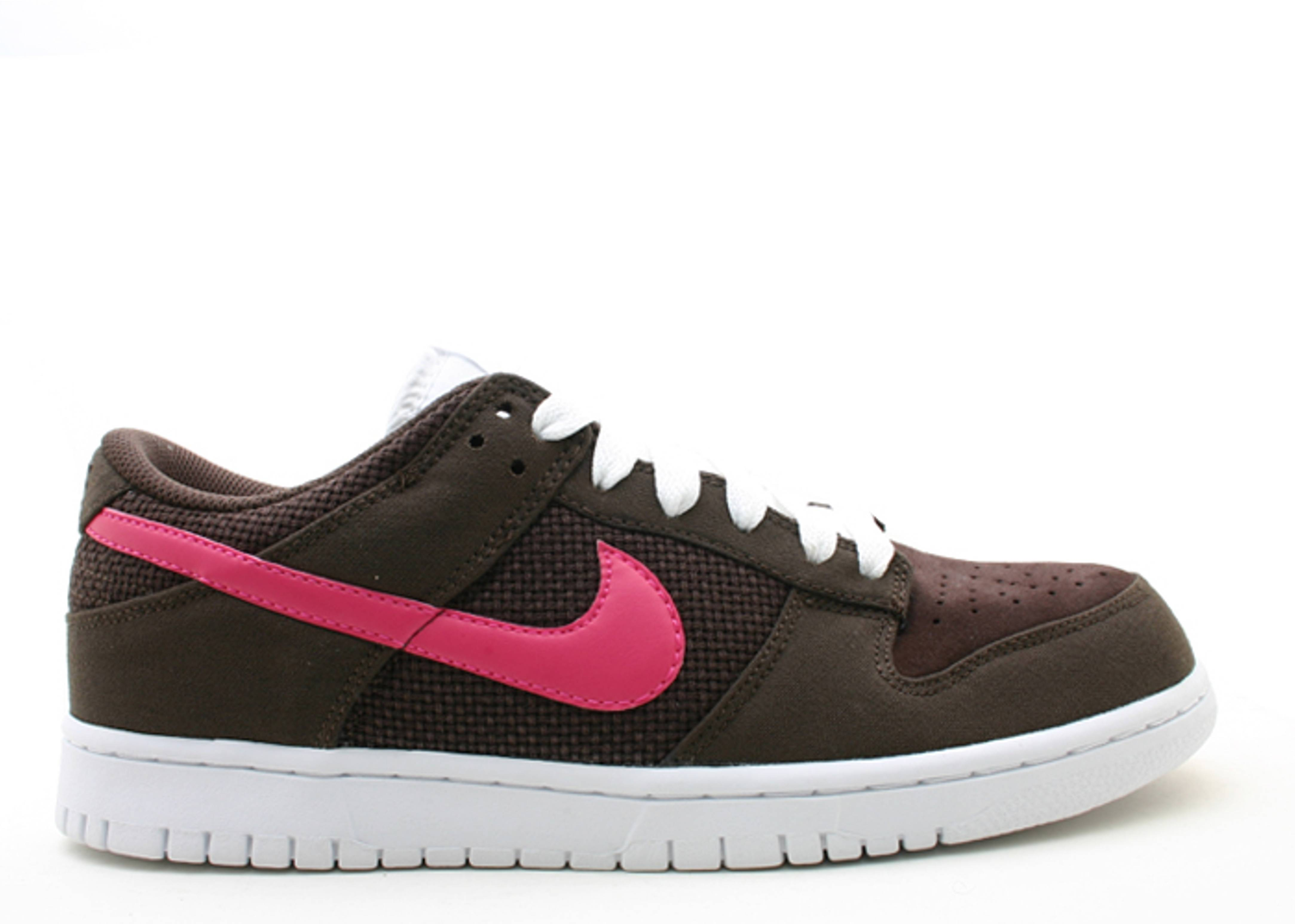 nike dunks pink and brown